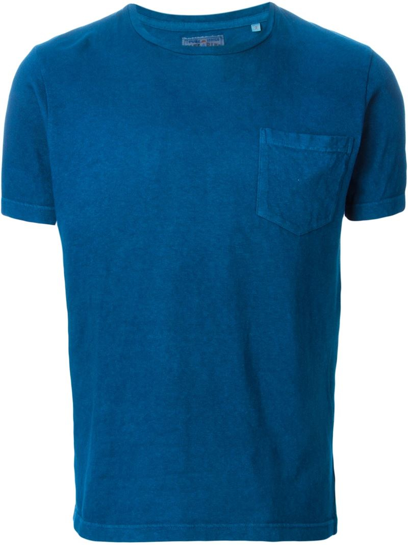 Blue blue japan round neck t shirt in blue for men lyst gallery sciox Choice Image