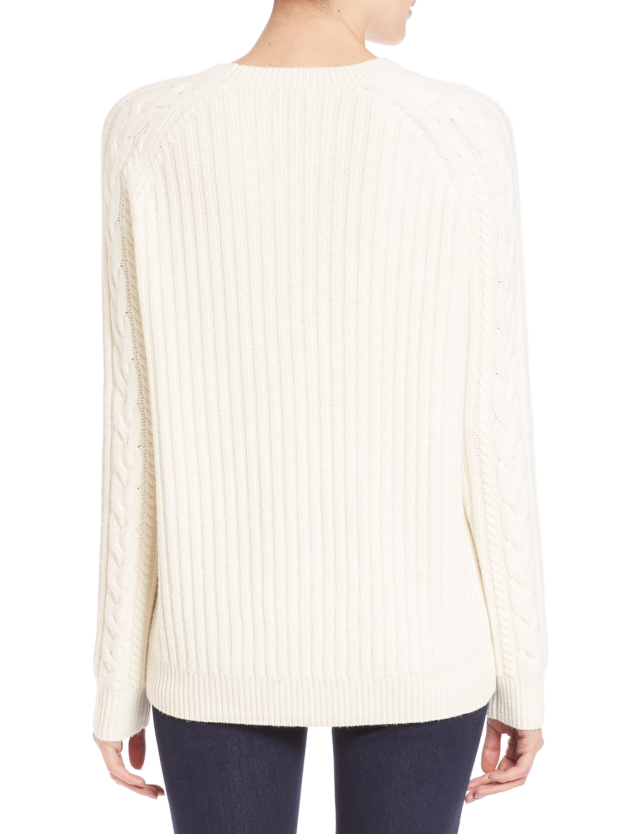 off white cable knit sweater her sweater. Black Bedroom Furniture Sets. Home Design Ideas