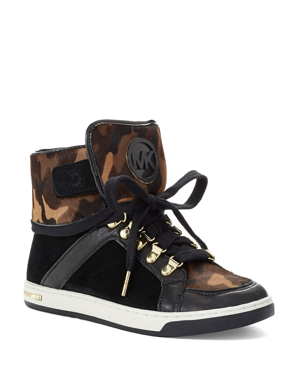 michael kors sneaker high michael kors essex studded. Black Bedroom Furniture Sets. Home Design Ideas
