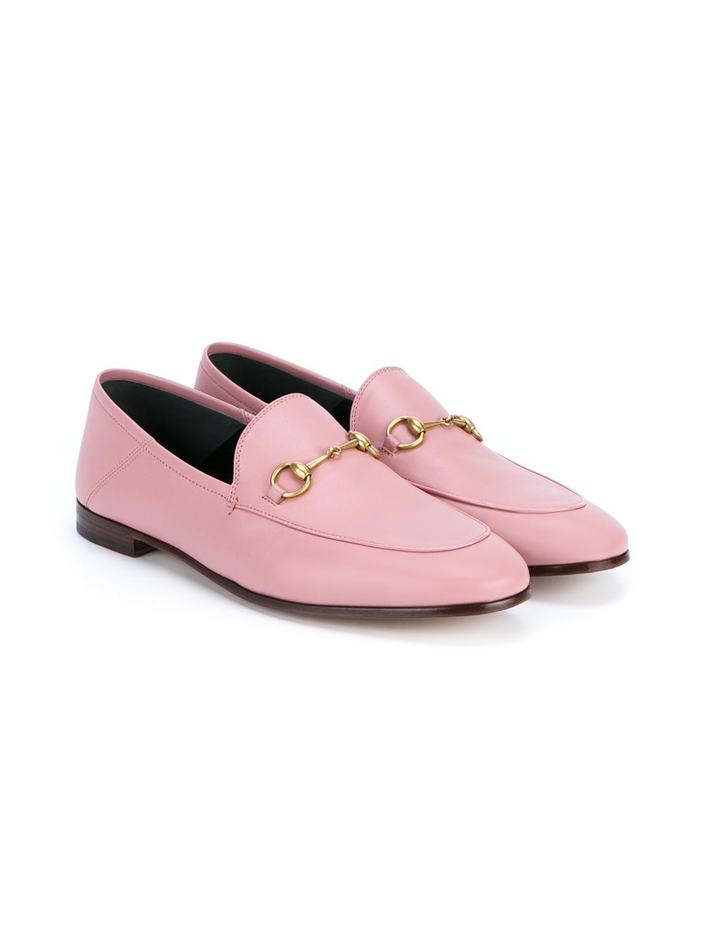 33931d2e882 Gucci Jordaan Horsebit Loafers in Pink - Lyst