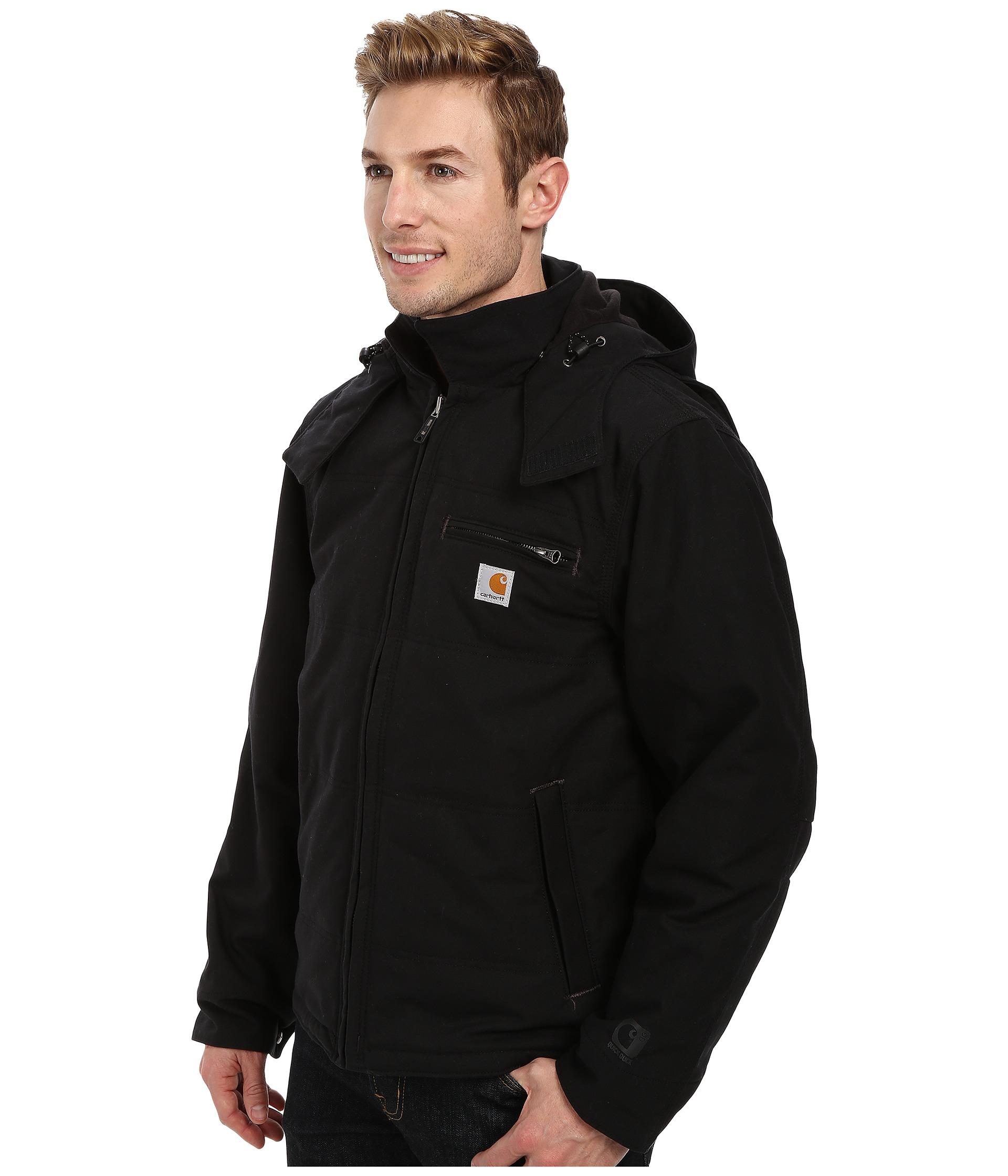 Carhartt big tall quick duck livingston jacket in black for Carhartt work shirts tall