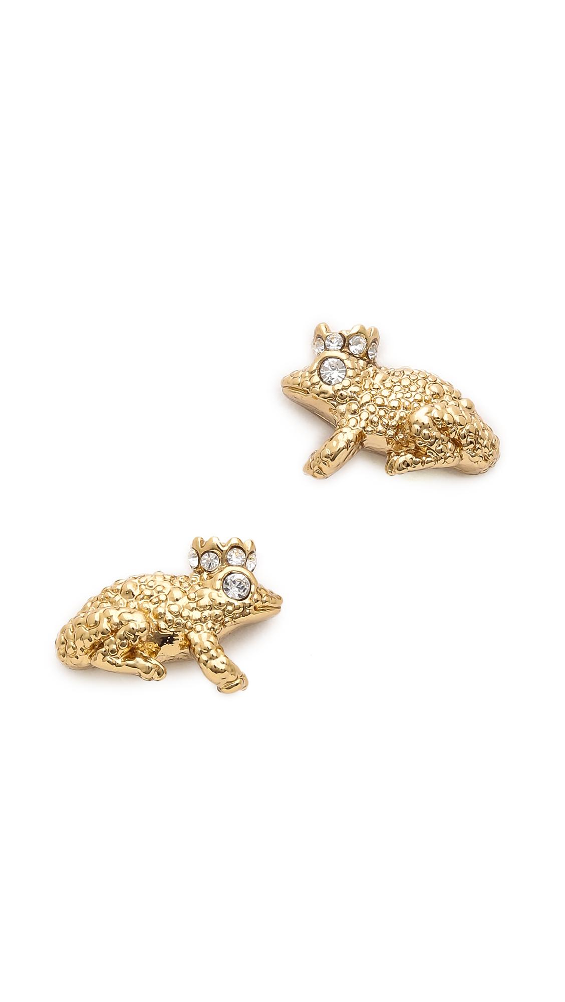 Lyst - Kate spade new york Kiss A Prince Frog Stud Earrings ...