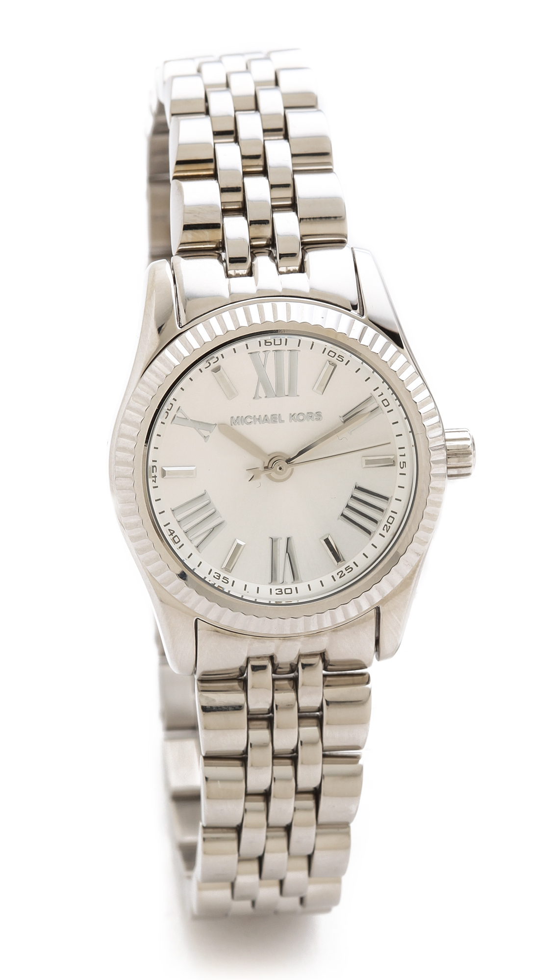 michael kors lexington watch in metallic lyst