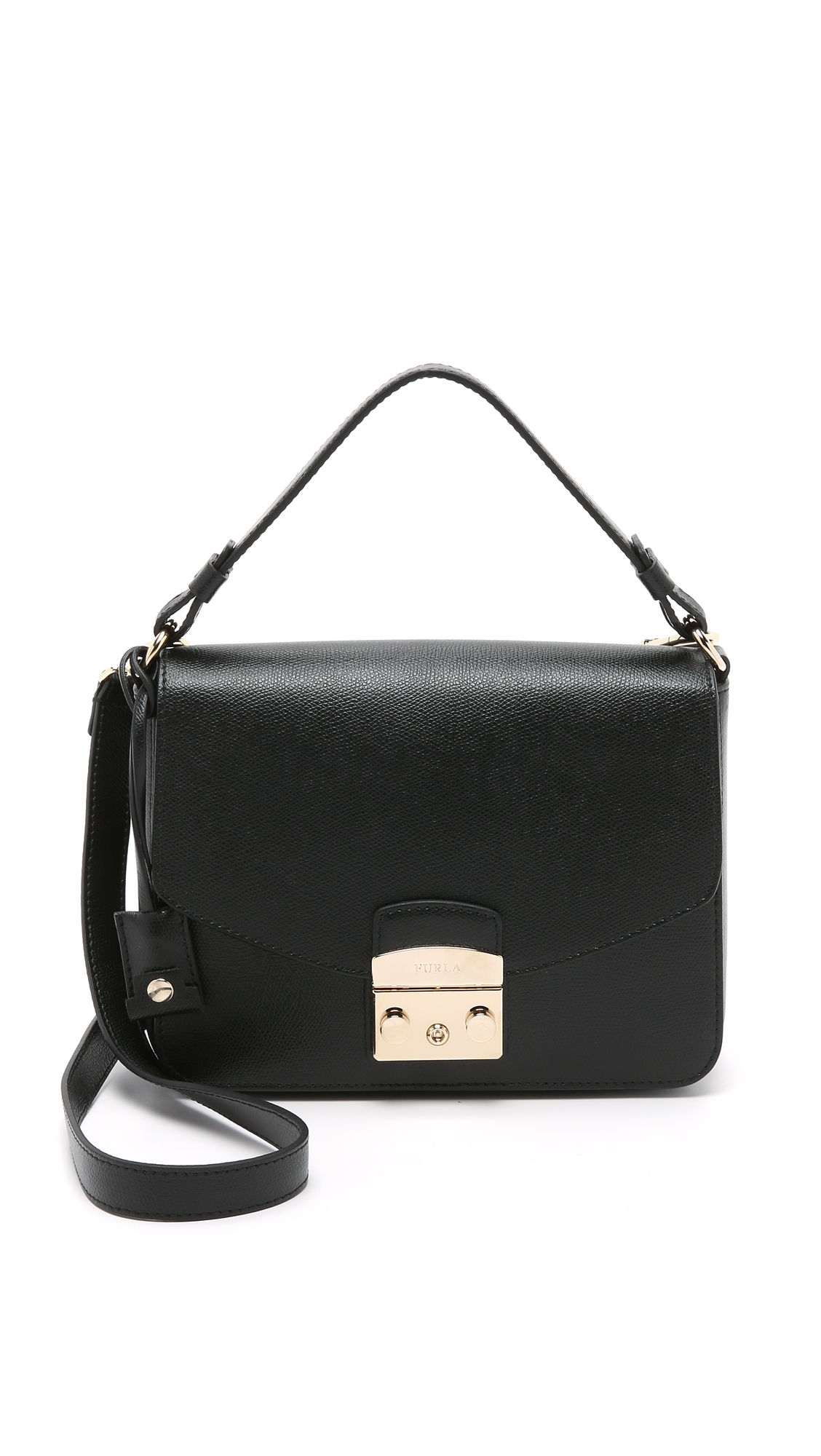 Furla Metropolis Small Shoulder Bag in Black | Lyst