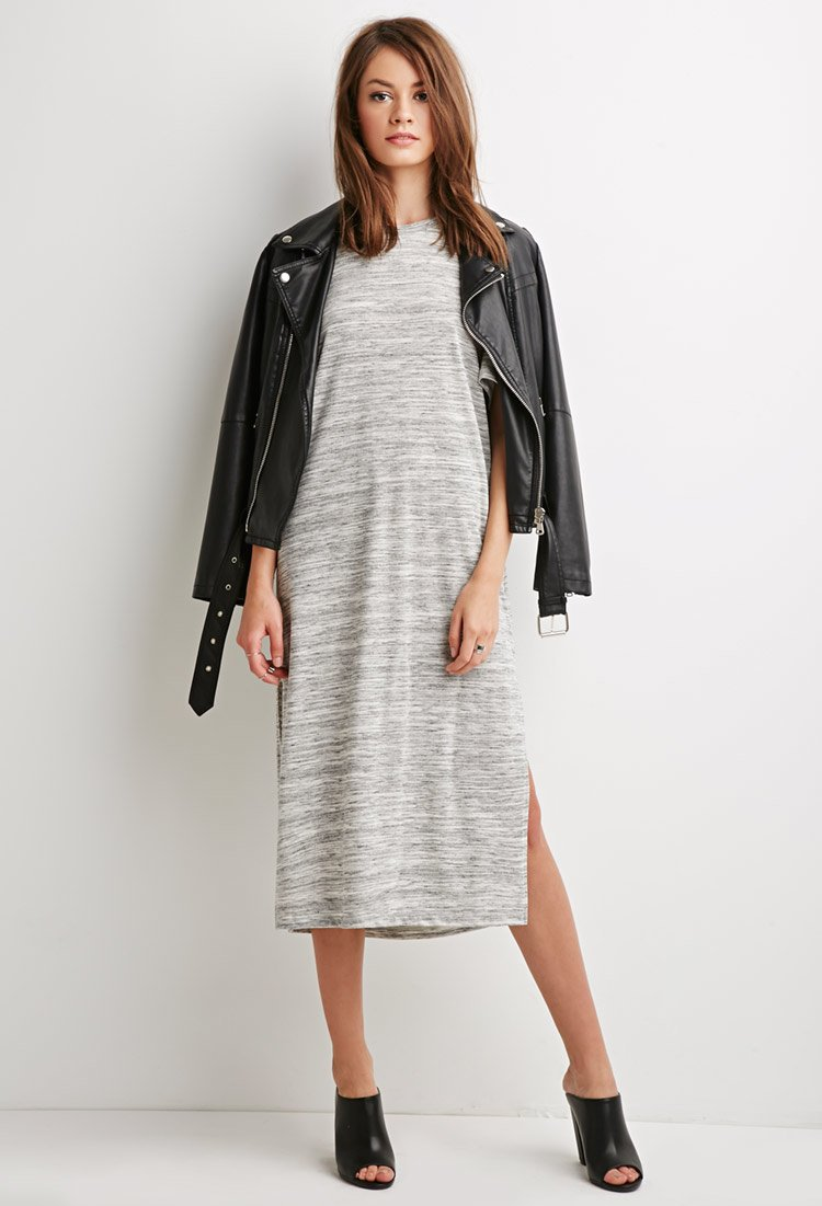 Forever 21 Marled Sweater Dress in Gray | Lyst