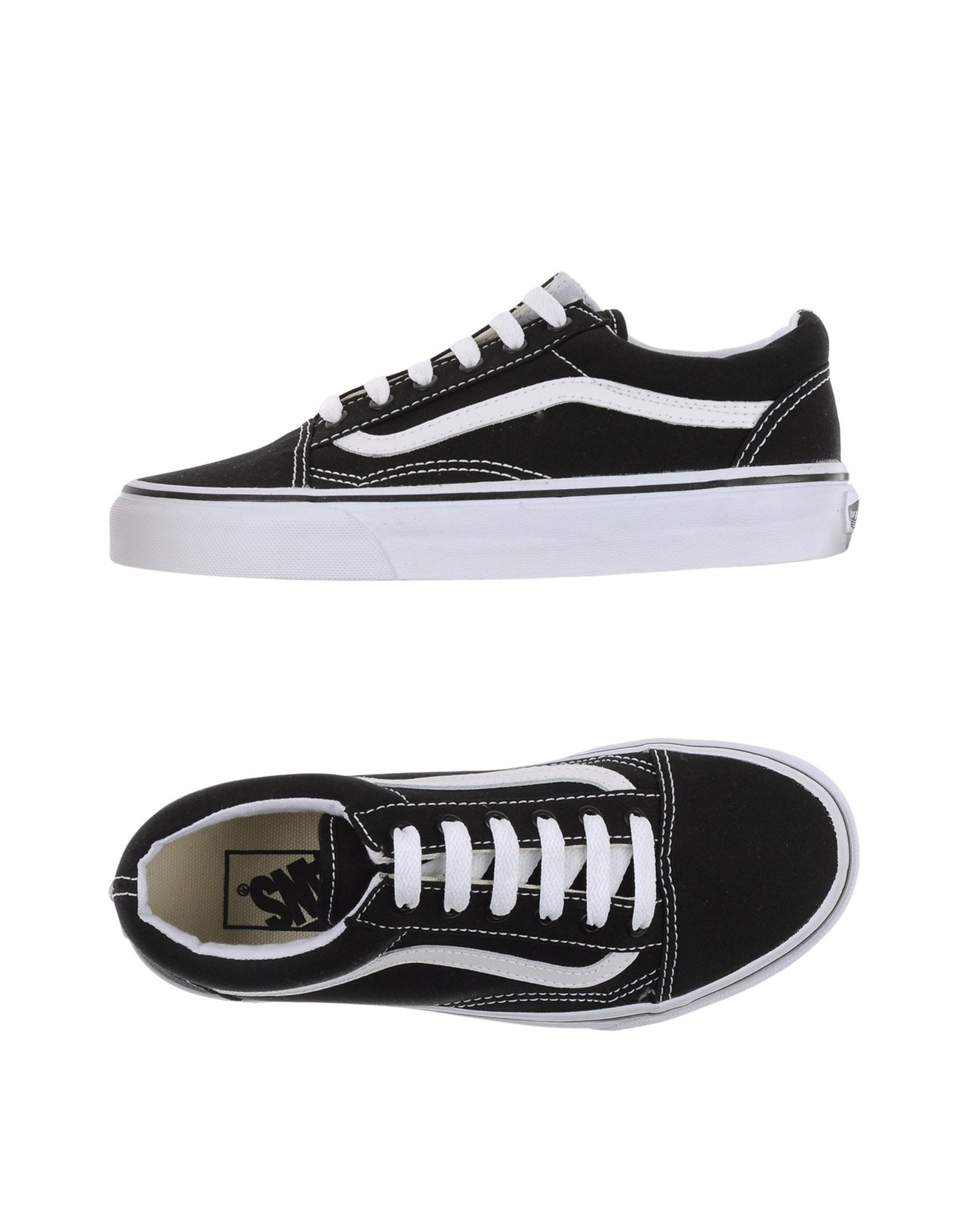 vans low tops trainers in black lyst. Black Bedroom Furniture Sets. Home Design Ideas