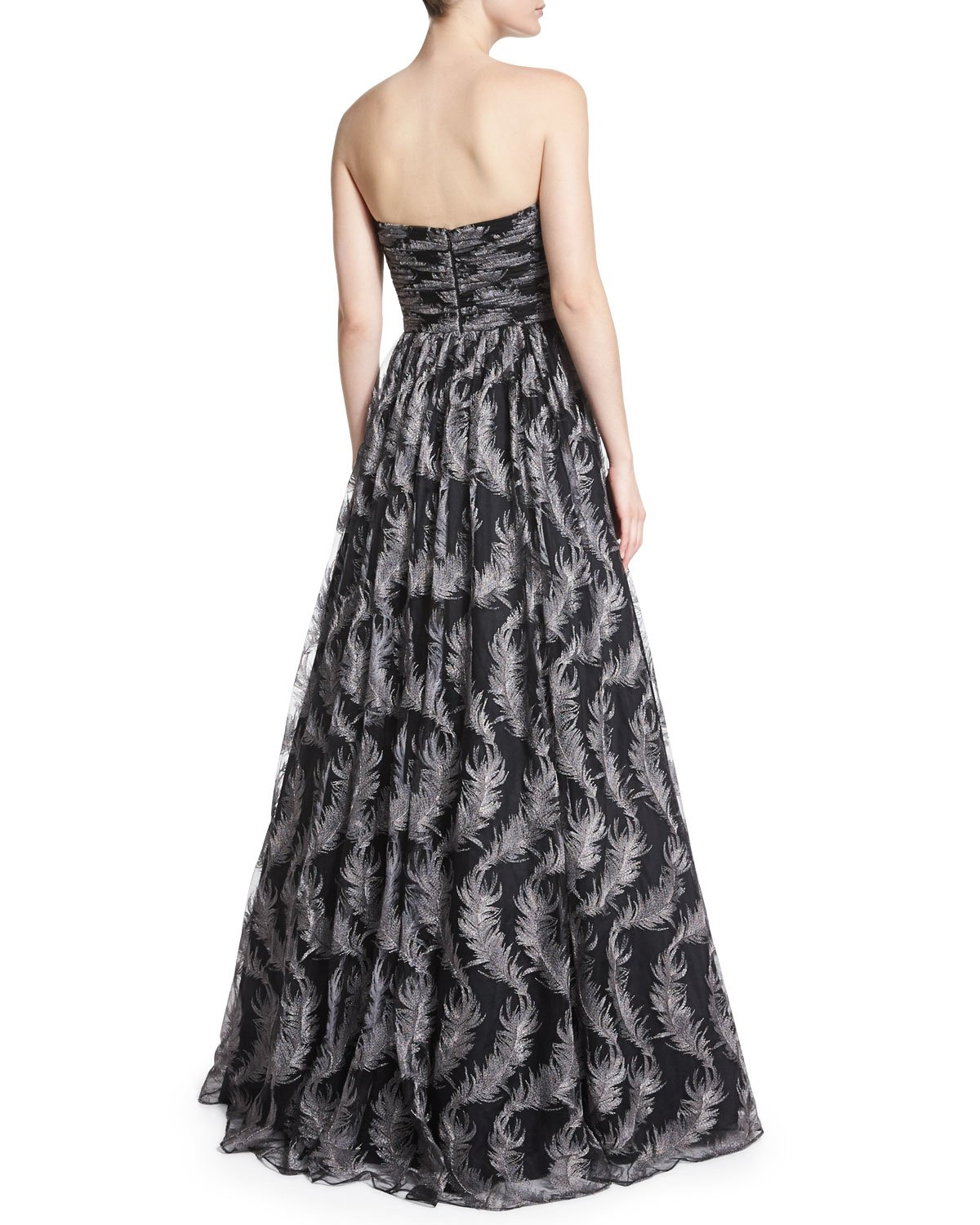 David Meister Black Evening Gown