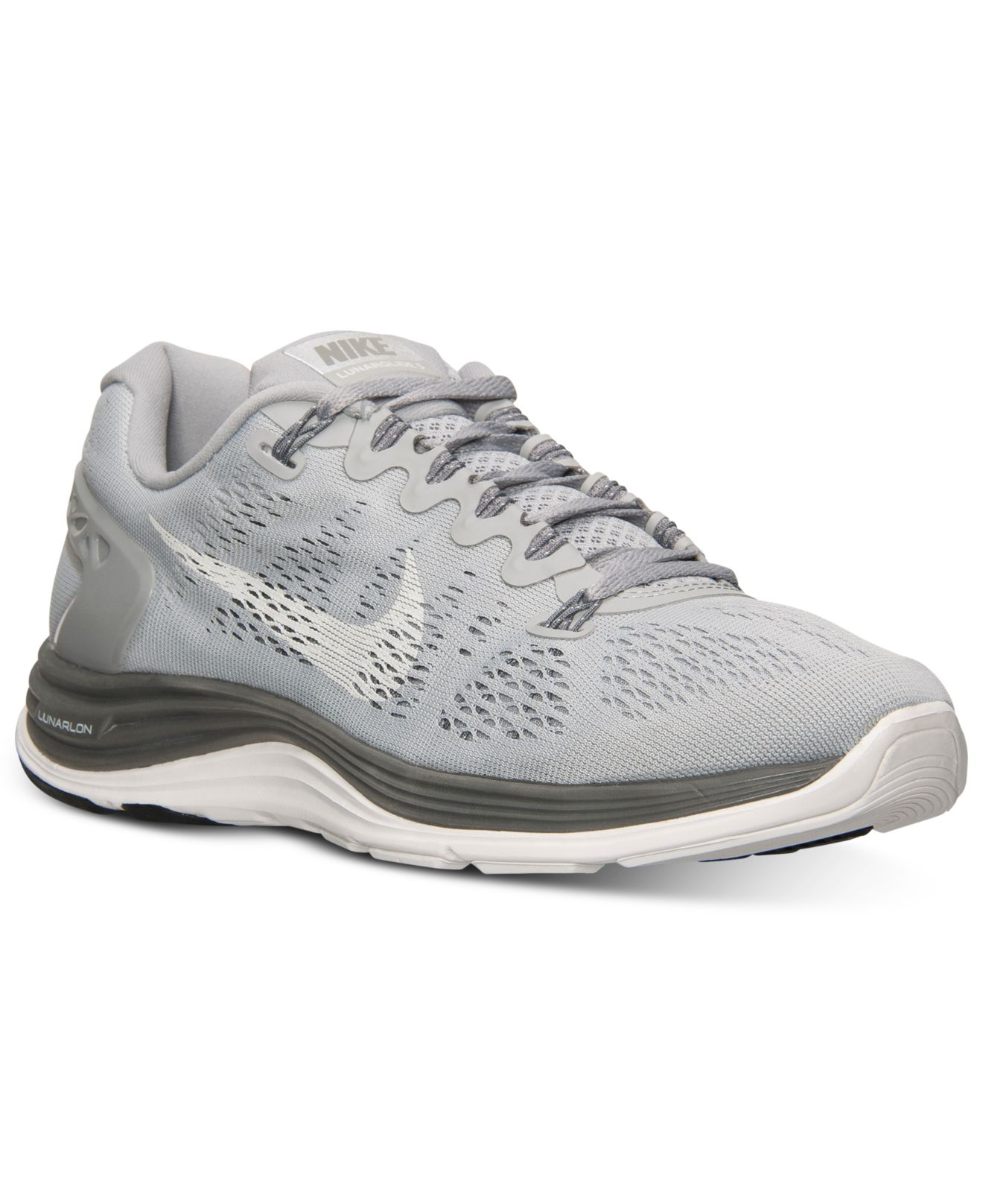newest 592fa 1a314 Lyst - Nike Women S Lunarglide+ 5 Running Sneakers From Finish Line ...