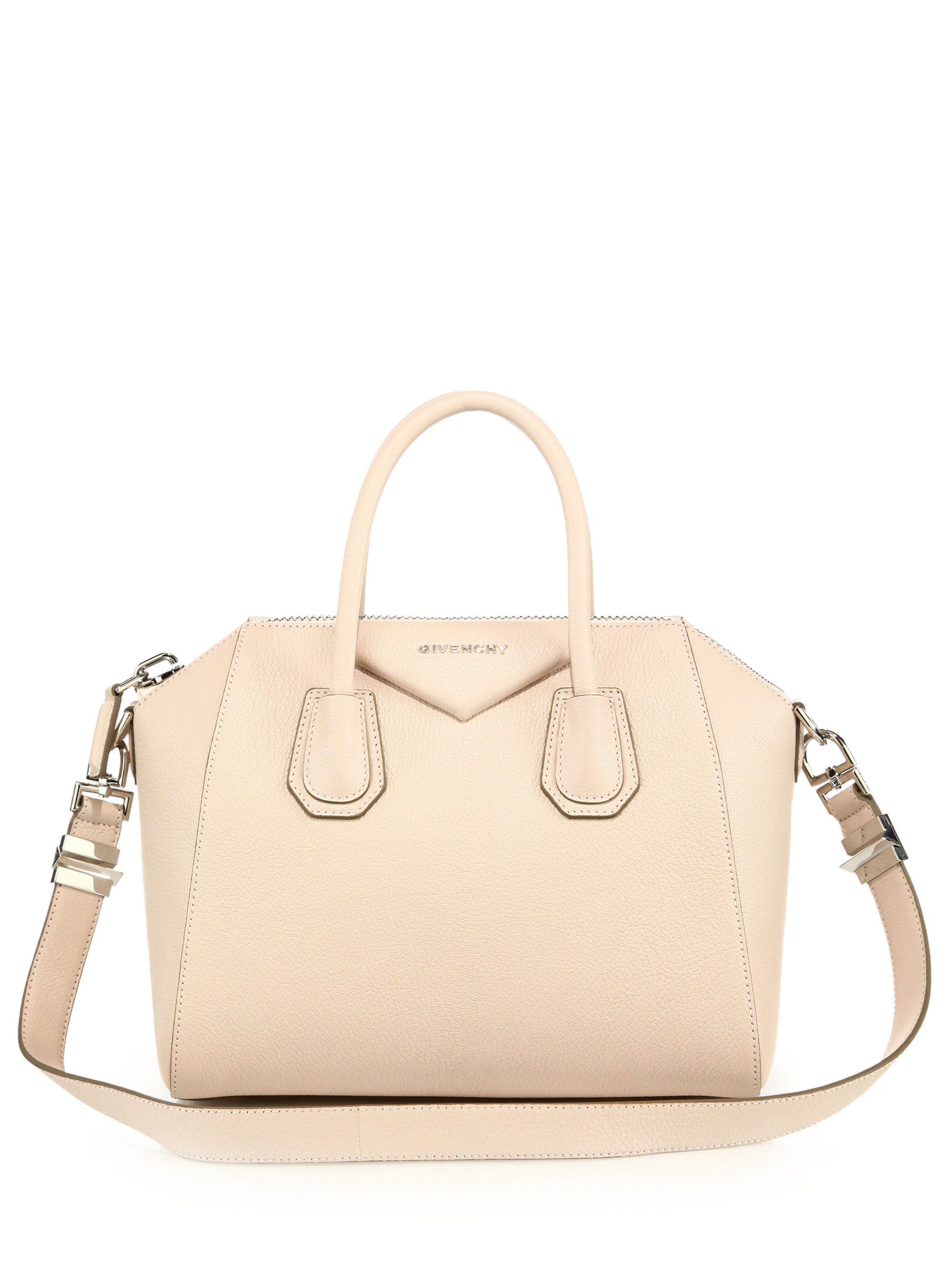 38fdc9ee4d Givenchy Antigona Small Leather Satchel in Natural - Lyst