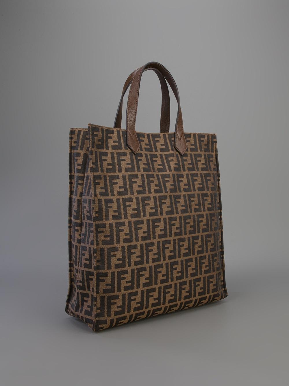 Lyst - Fendi  Zucca  Shopper Tote in Brown e90f8180d0d48
