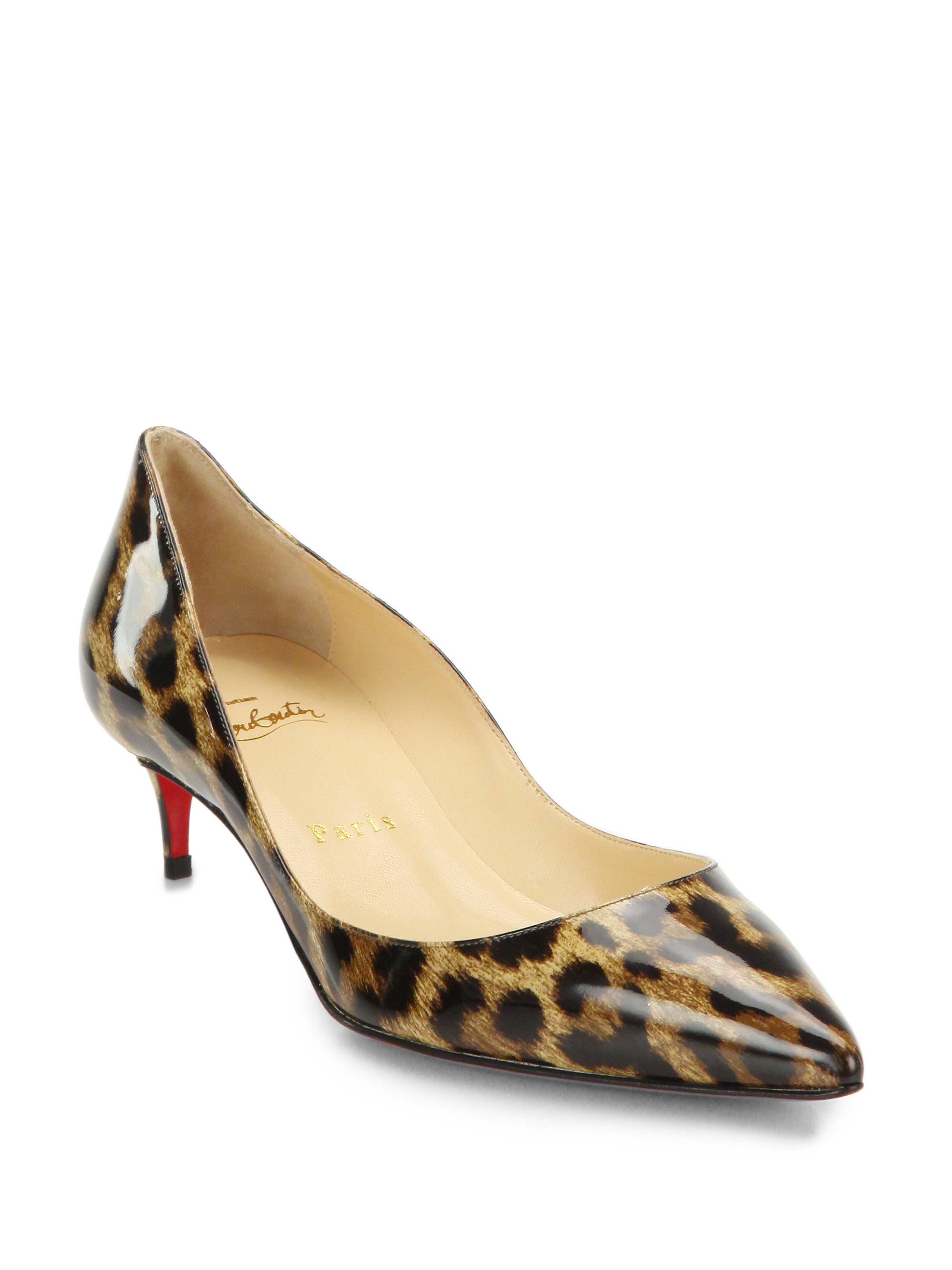 cheap mens christian louboutin loafers - christian louboutin pointed-toe pumps Brown leather | The Little ...