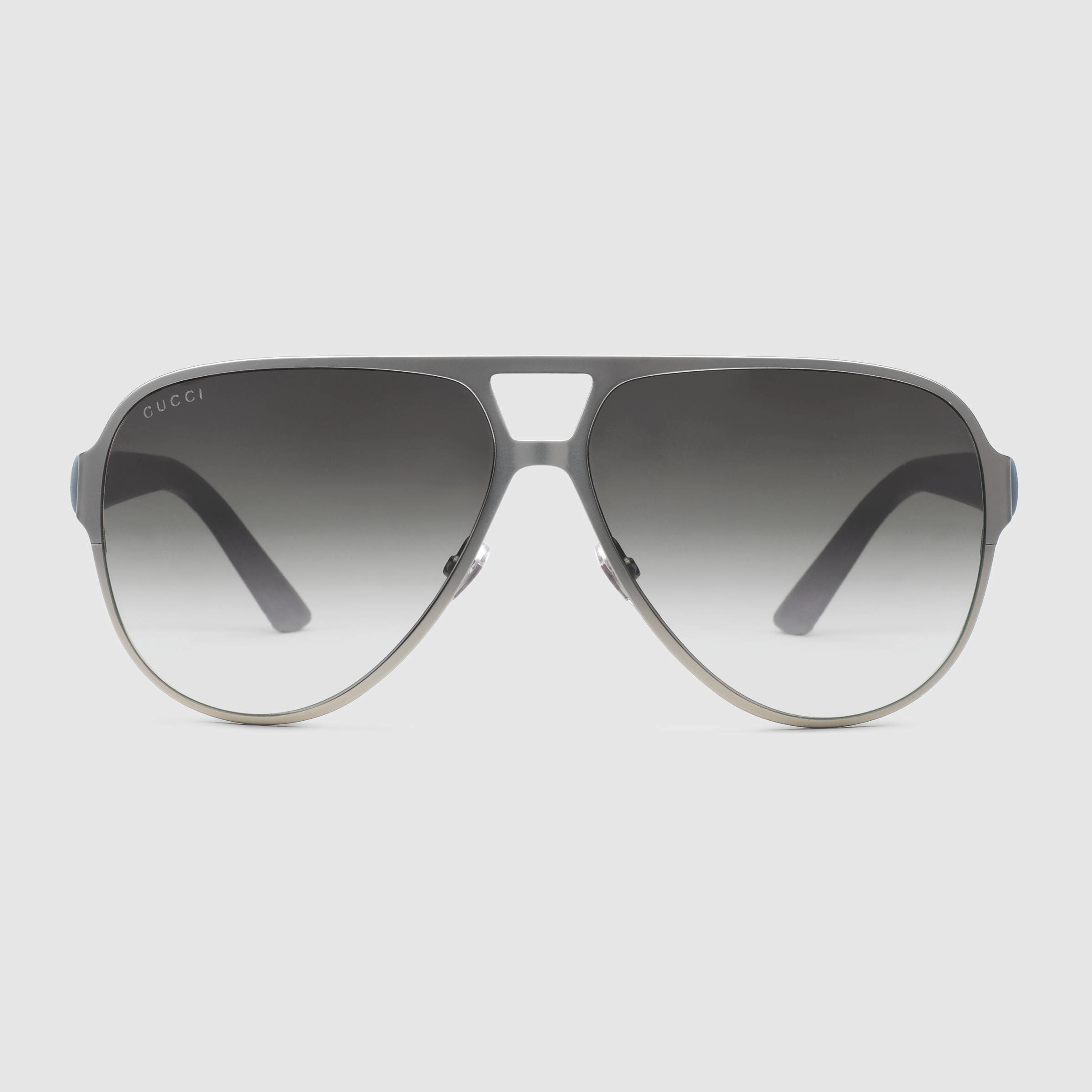 af170ab4bb1 Lyst - Gucci Light Steel Aviator Sunglasses in Gray for Men