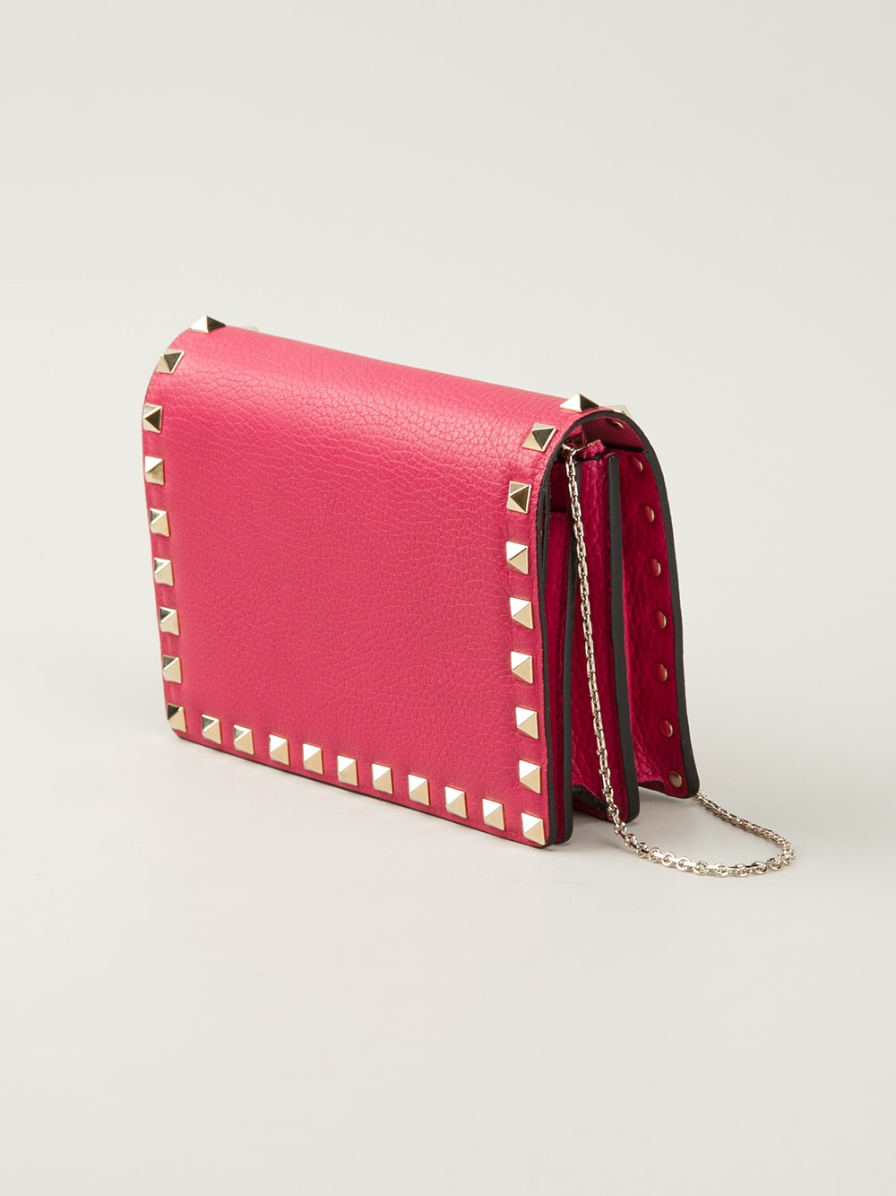 Studded Clutch with Chain Valentino ngCLPUJ7h6