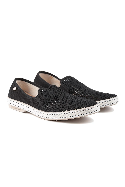 rivieras classic slip on sneakers noir in black lyst