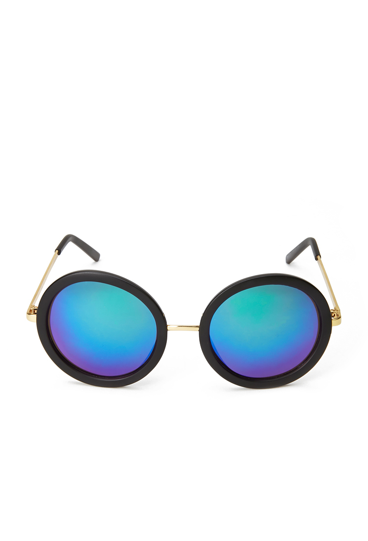 44224379de9 Forever 21 Cool Girl Round Sunglasses in Pink - Lyst