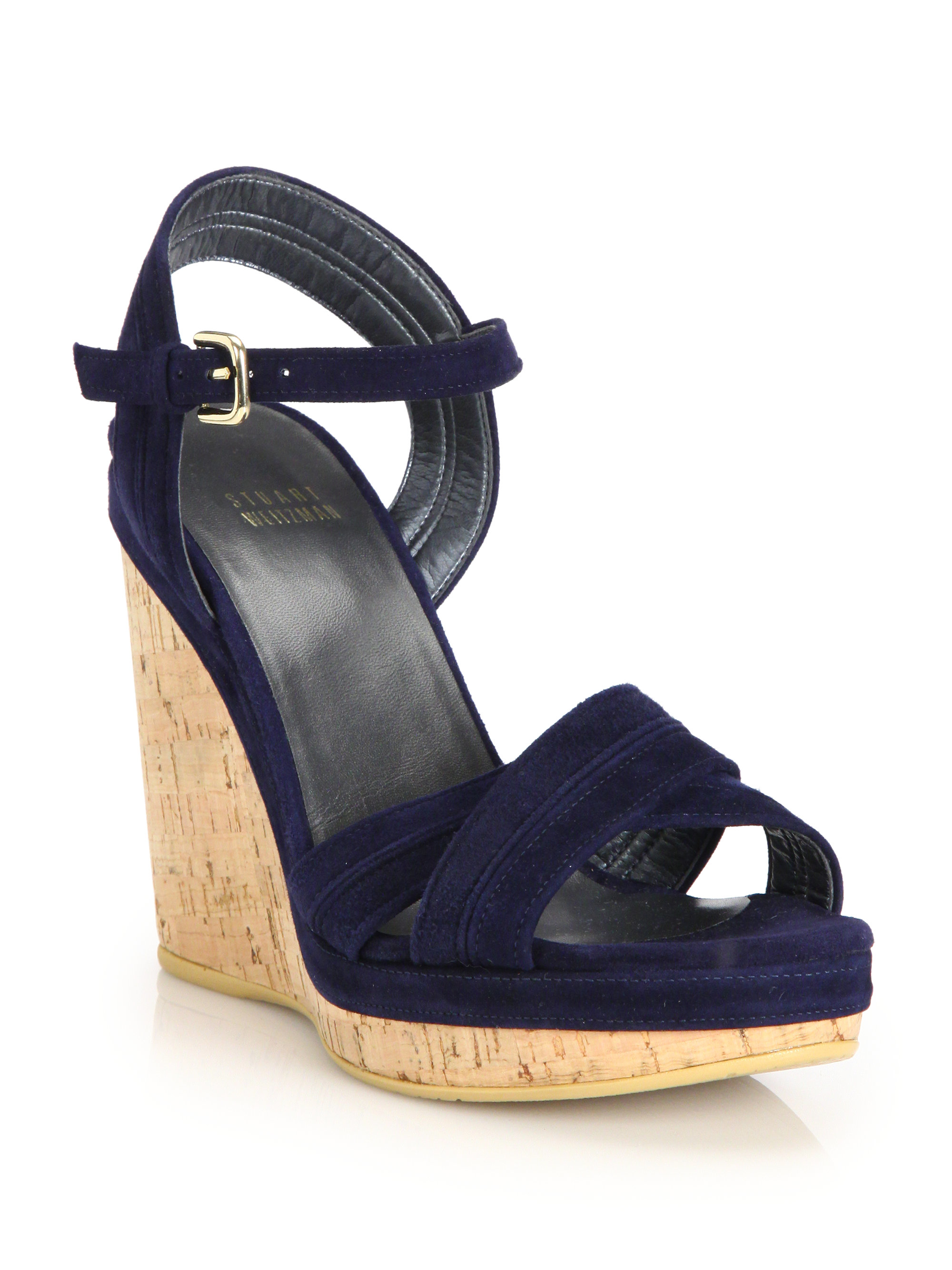 Stuart Weitzman Suede Caged Platform Sandals pay with visa free shipping deals high quality buy online 2014 unisex cheap price YKt8xa2W2G