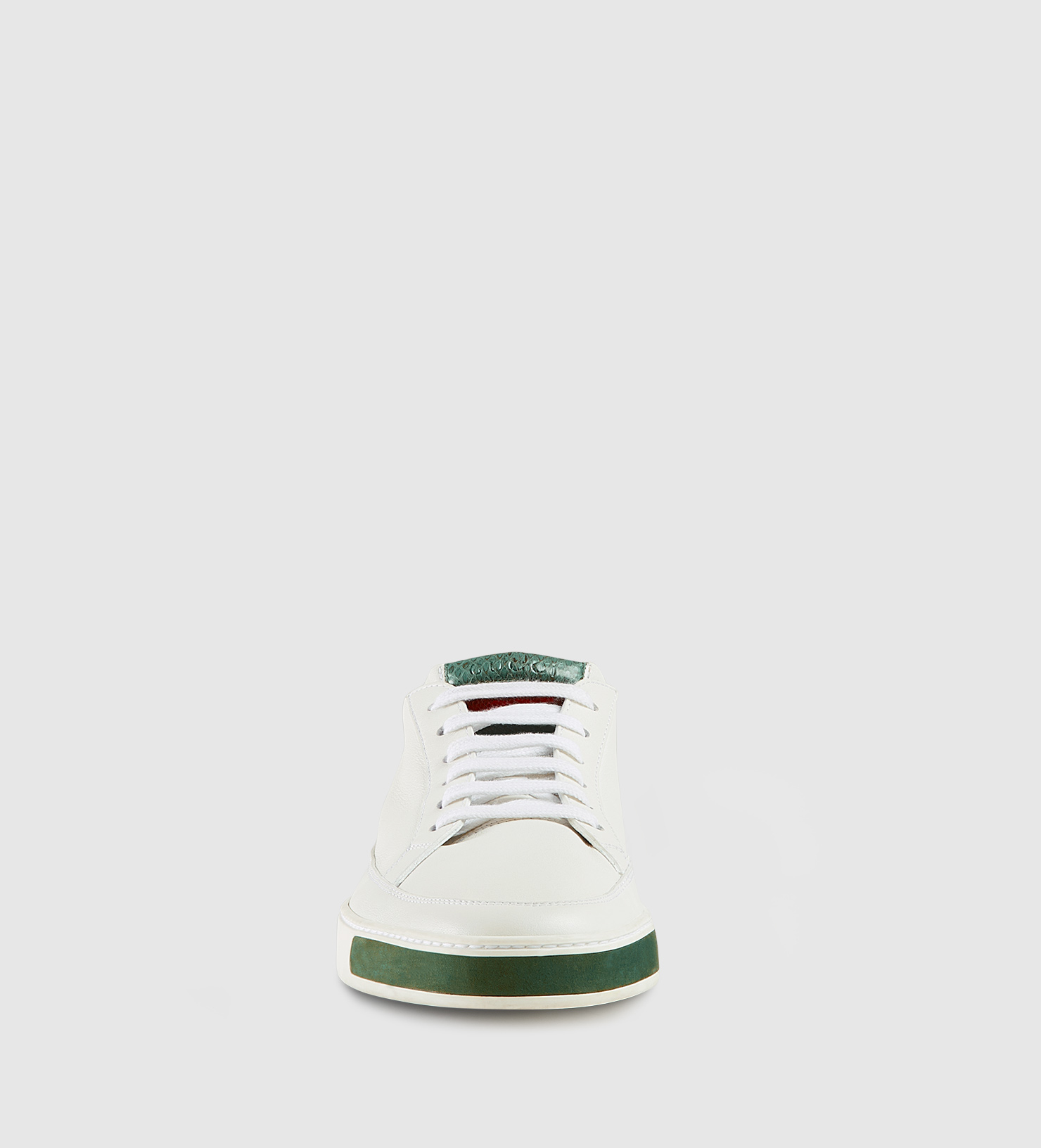 c1b26db0e Gucci Leather Suede And Ayers Snake Low-top Sneaker in White for Men ...