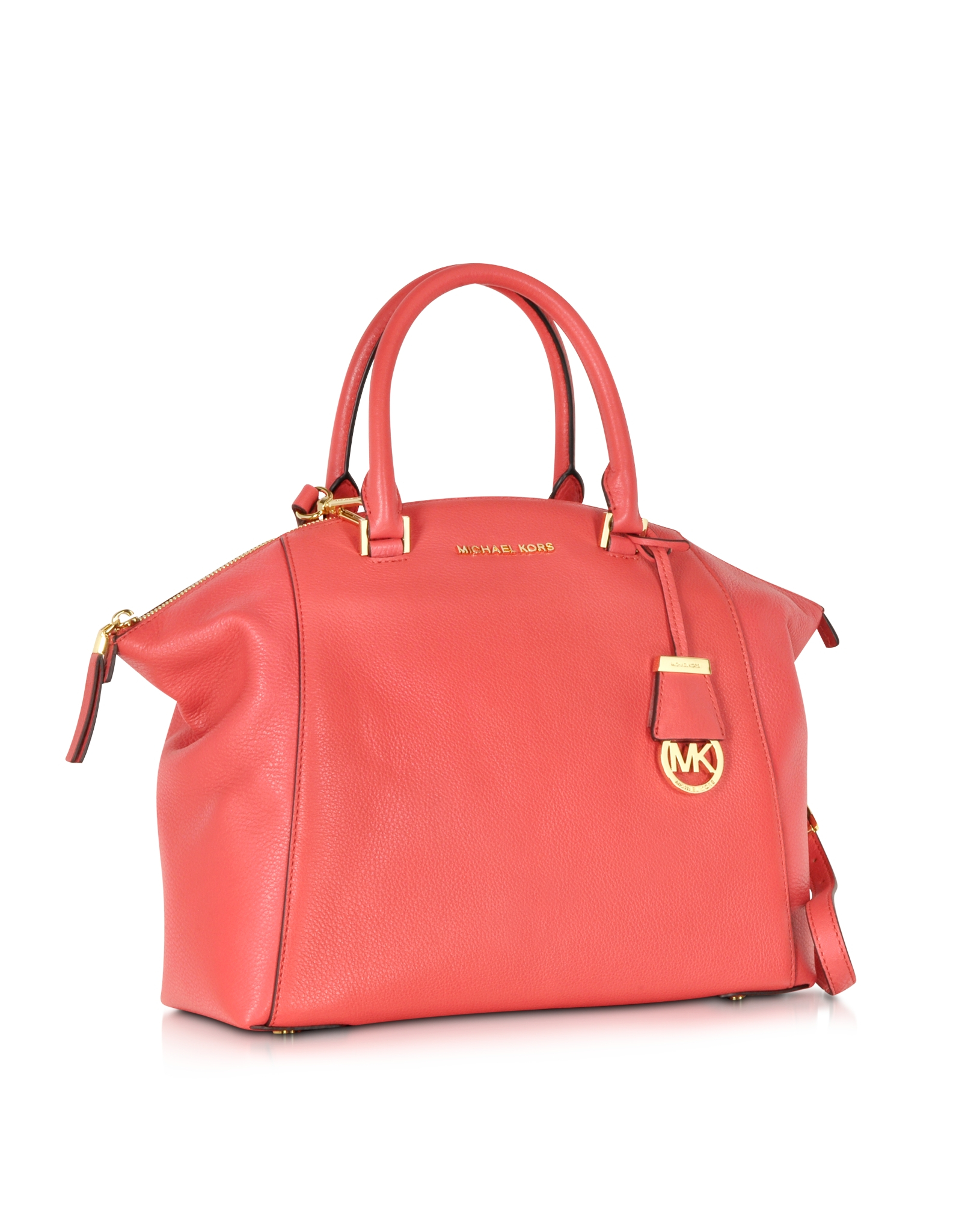 Michael Kors Riley Laukku : Michael kors riley large watermelon pebbled leather