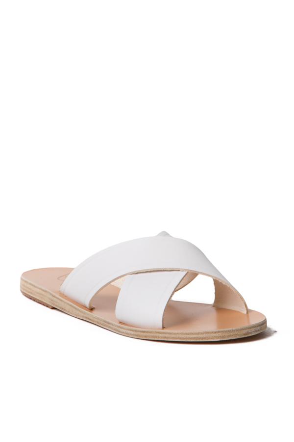 Lyst Ancient Greek Sandals Cross Strap Slide In White