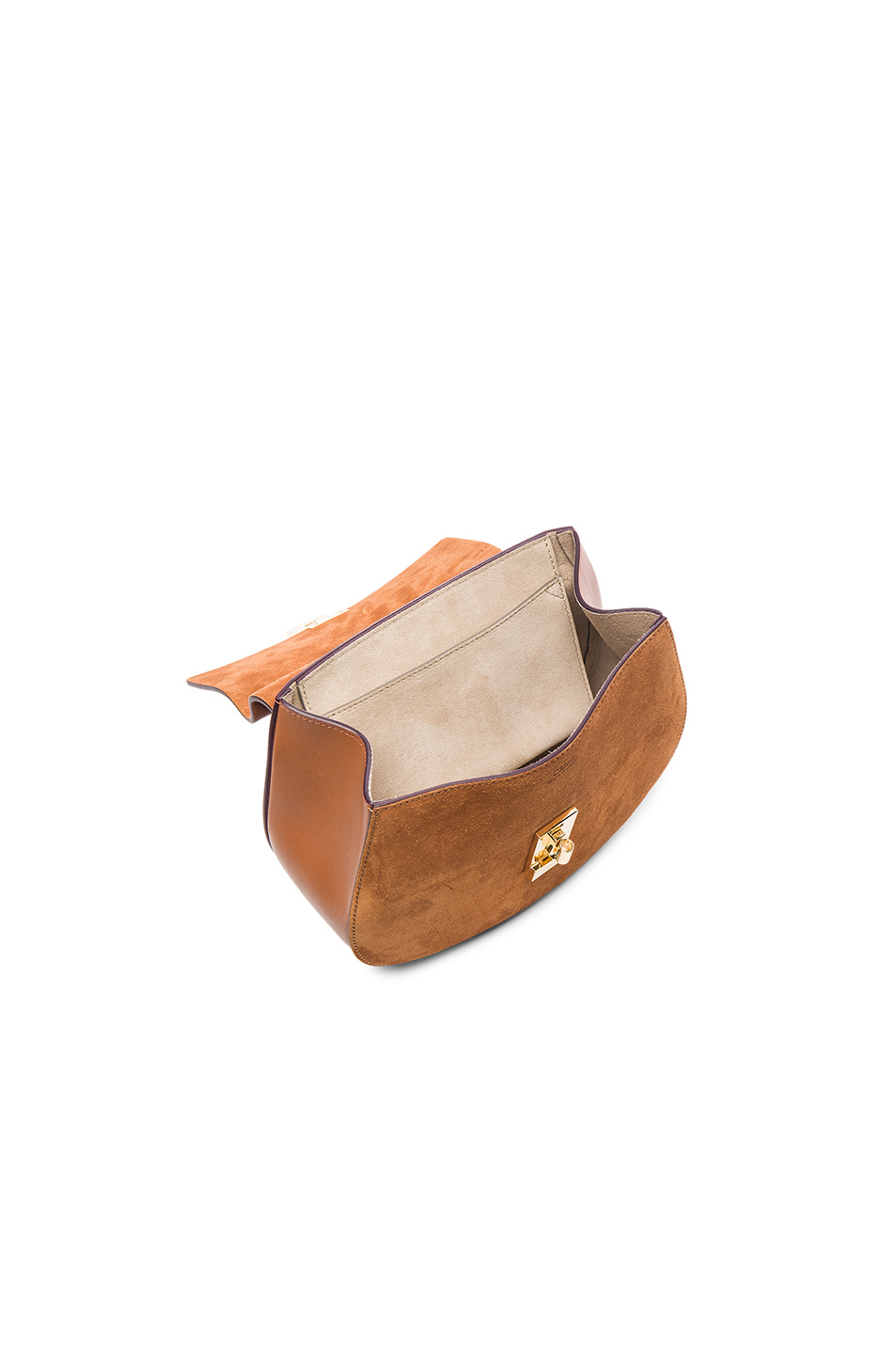 DREW BAG IN SUEDE CALFSKIN AND SMOOTH CALFSKIN