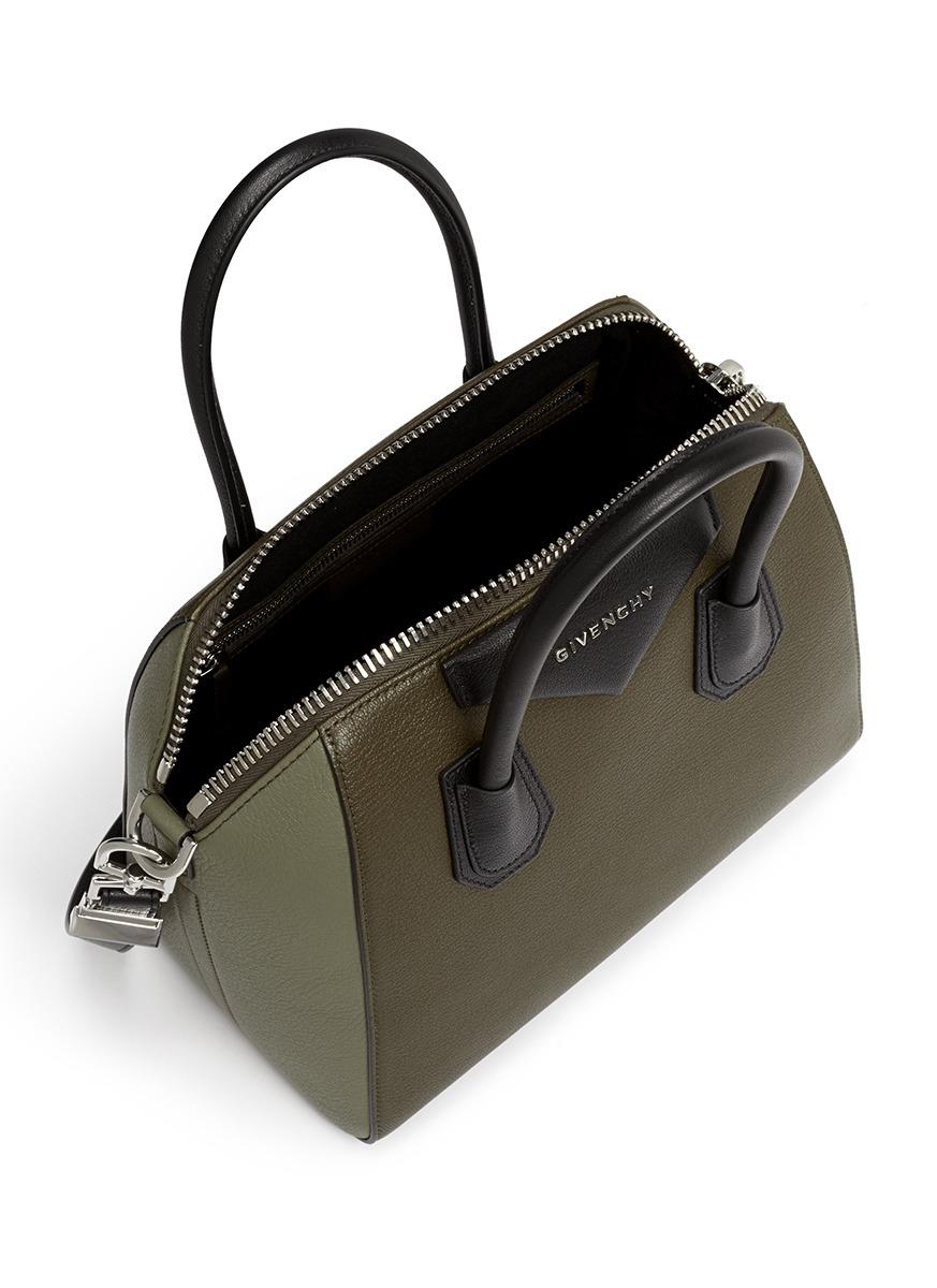 e2901e4160e2 Givenchy antigona small colourblock leather bag in green lyst jpg 873x1200 Givenchy  medium antigona bag green
