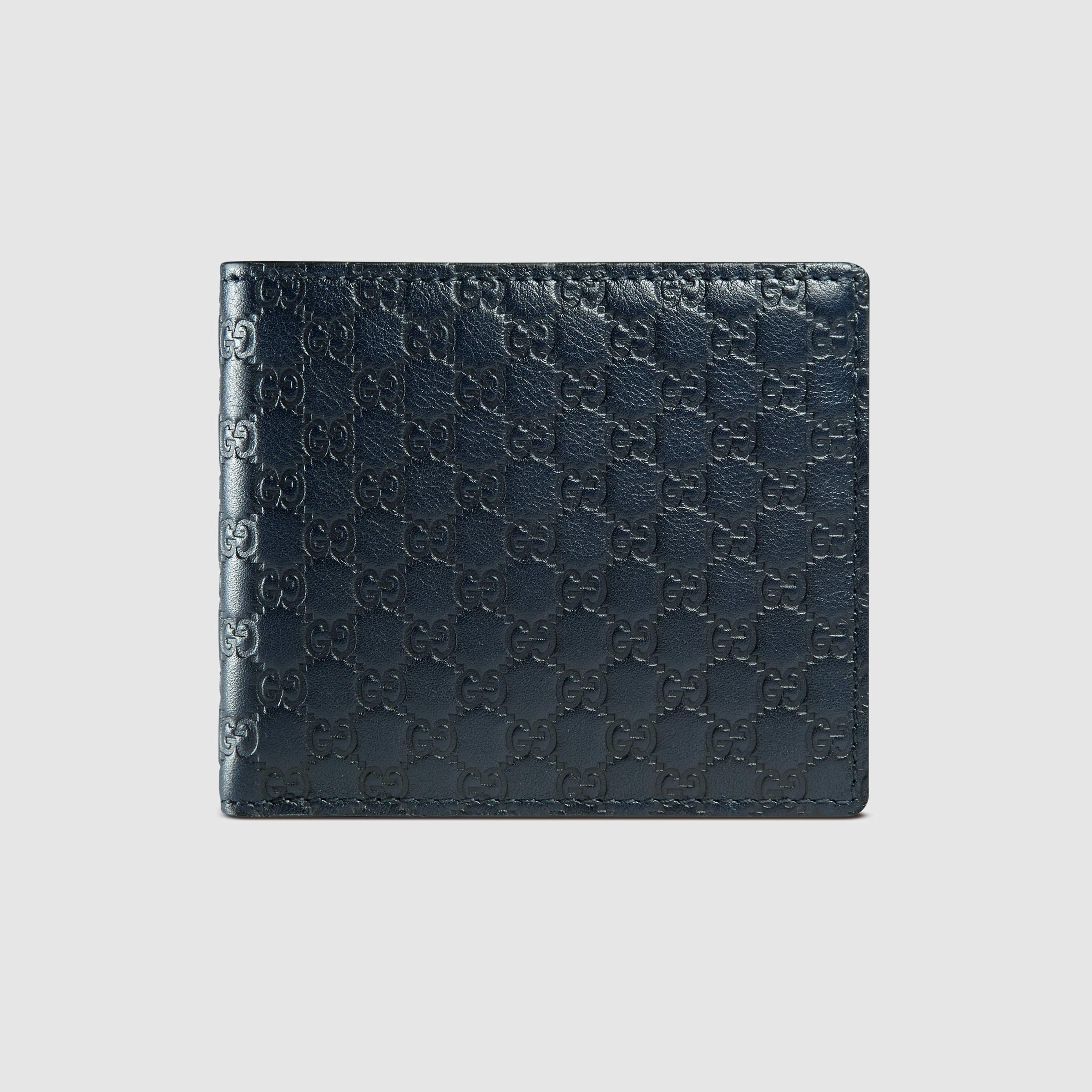 49e70ad629fe Gucci Microssima Leather Bi-fold Wallet in Black - Lyst