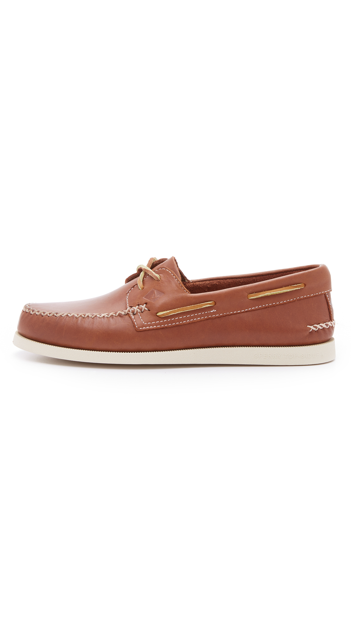 sperry top sider a o 2 eye wedge leather boat shoes in