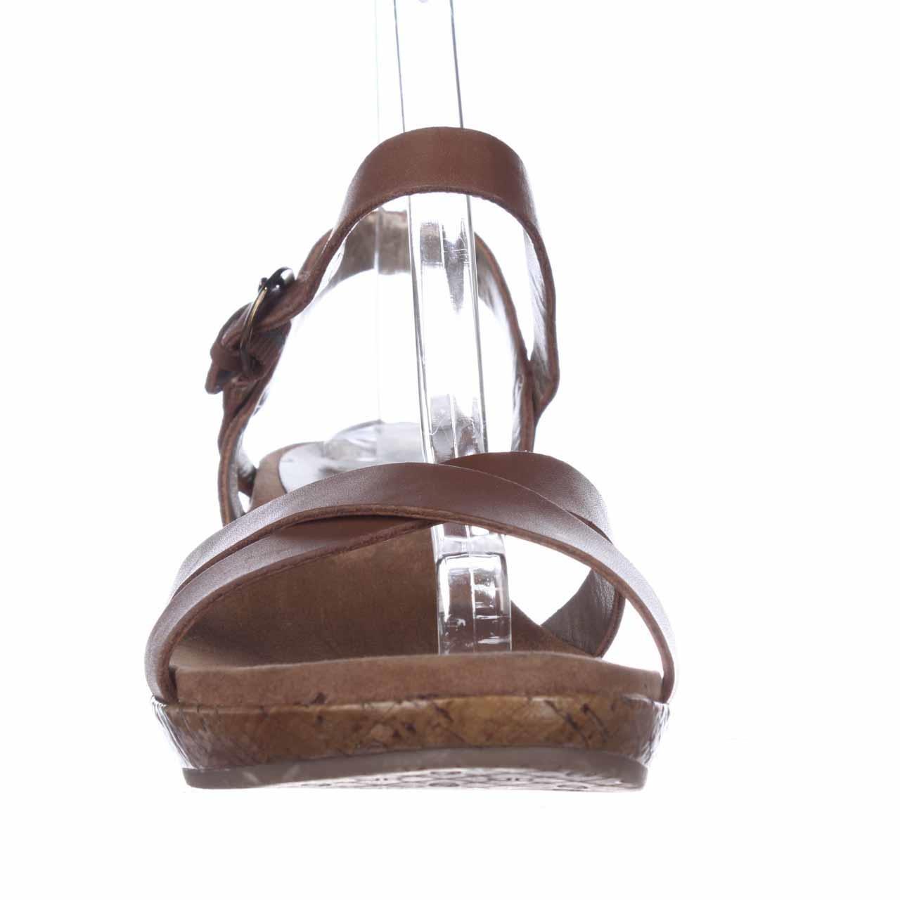 47ab9dfe9e3 Lyst - Circa Joan   David Payton Cork Wedge Sandals in Brown