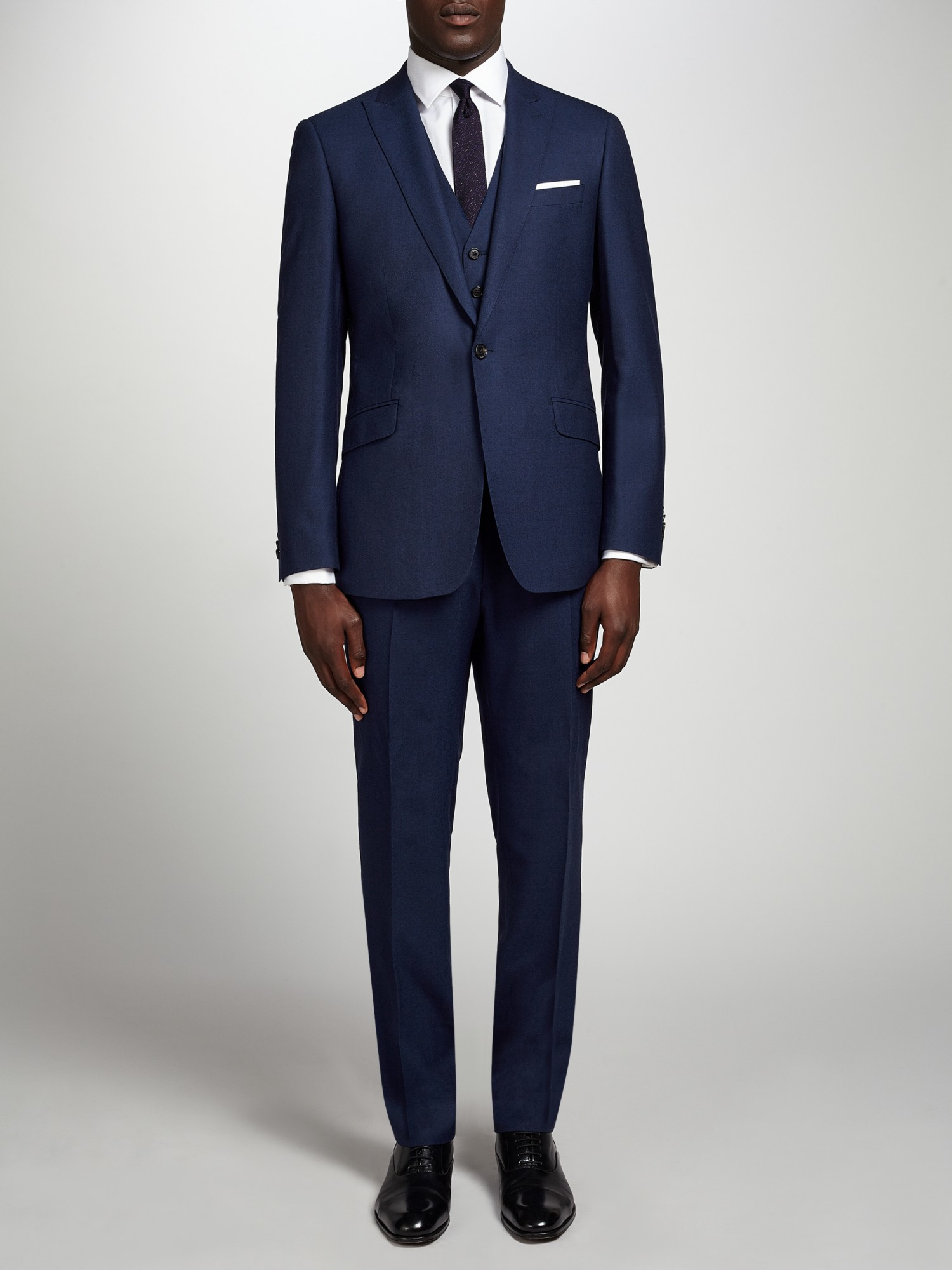 Richard james Flannel Wool Suit Trousers in Blue for Men ...