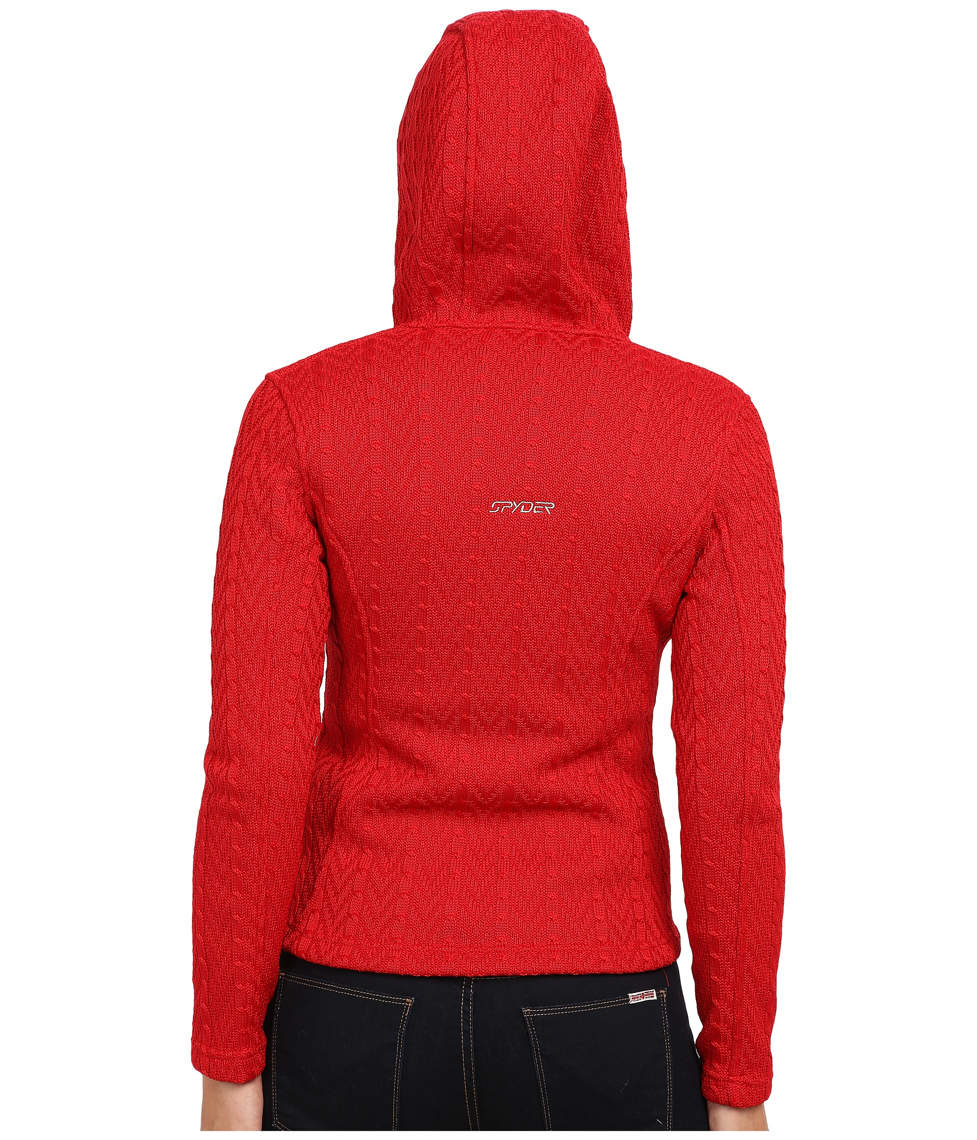 Spyder Major Hoodie Cable Core Sweater in Red | Lyst