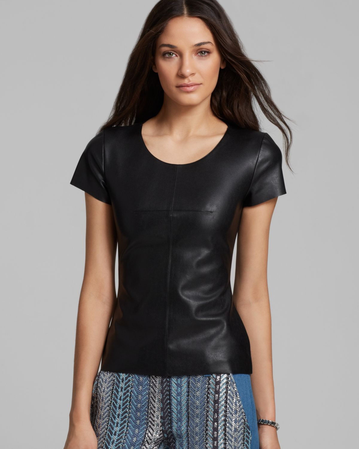 Bailey 44 Top Mermaid Faux Leather In Black Lyst