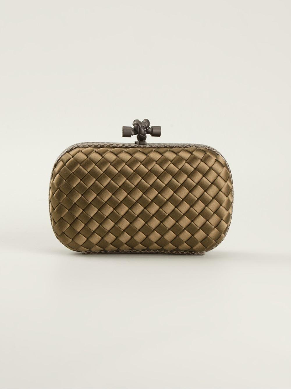 bottega veneta 39 knot 39 box clutch in brown lyst. Black Bedroom Furniture Sets. Home Design Ideas
