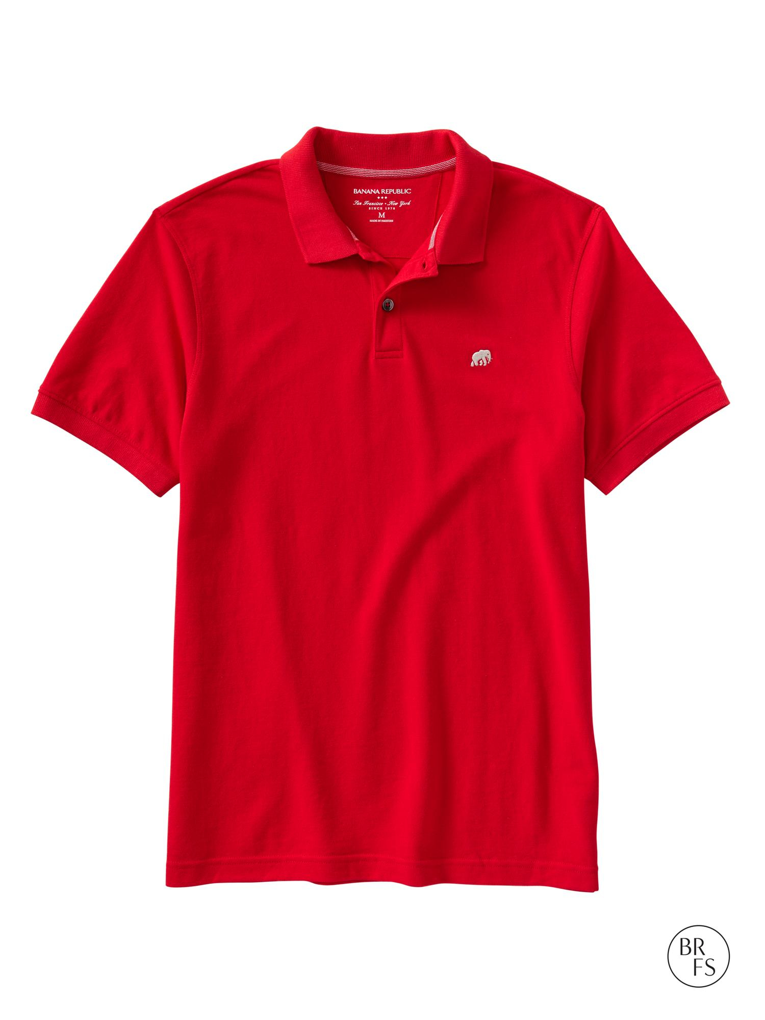 Lyst Banana Republic Factory Elephant Logo Polo In Red For Men