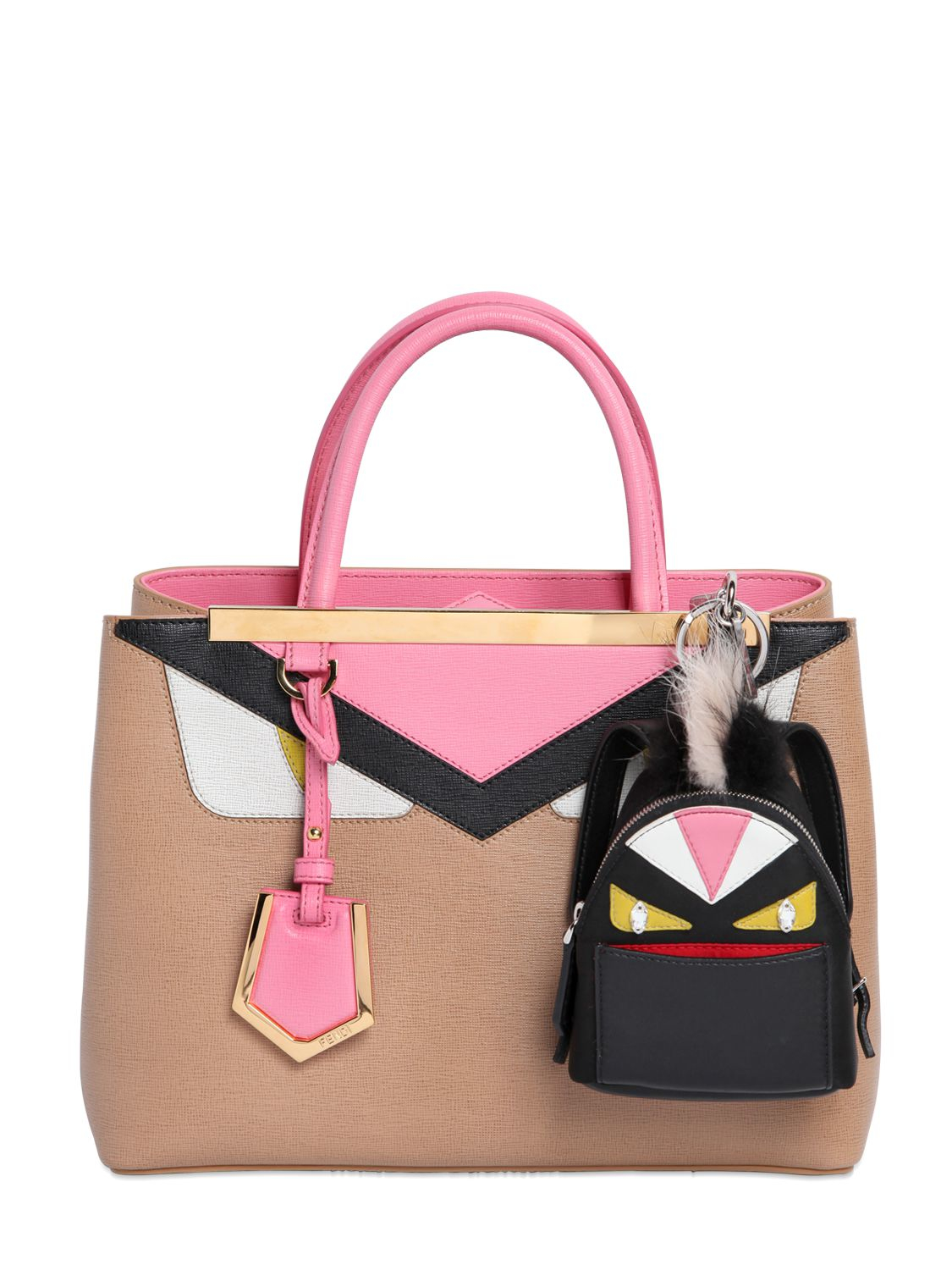 3777aea3c41a Lyst - Fendi Monster Animation Bag Charm With Fur in Black