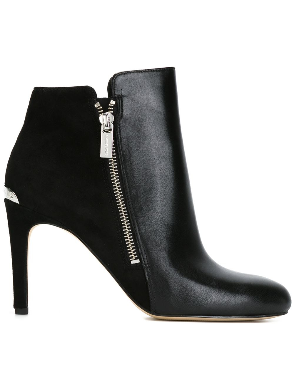 michael michael kors stiletto ankle boots in black lyst. Black Bedroom Furniture Sets. Home Design Ideas