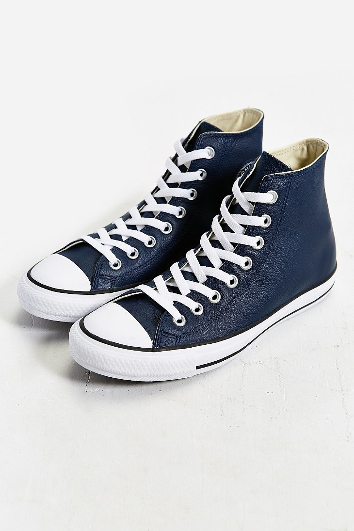 lyst converse chuck taylor all star leather hightop