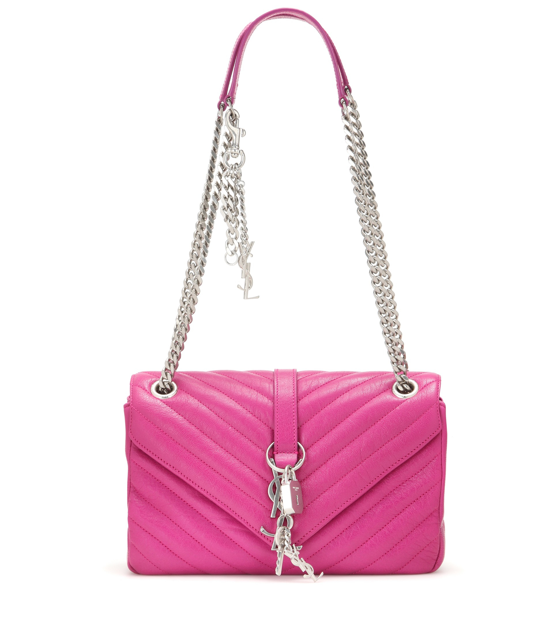 look a like bags - Saint laurent Punk Monogram Leather Shoulder Bag in Pink (Electric ...