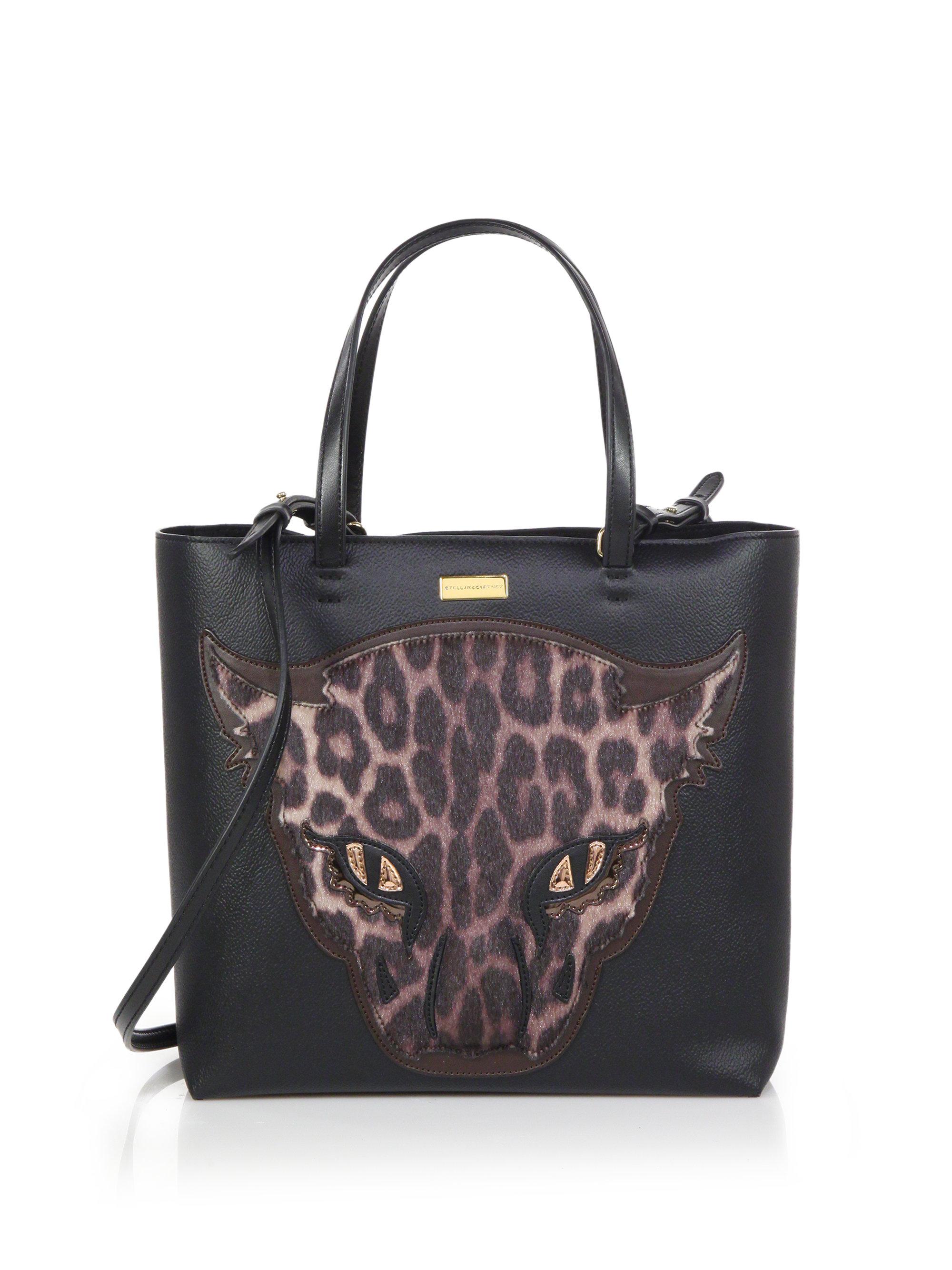 Lyst Stella Mccartney Faux Leather Amp Faux Fur Leopard