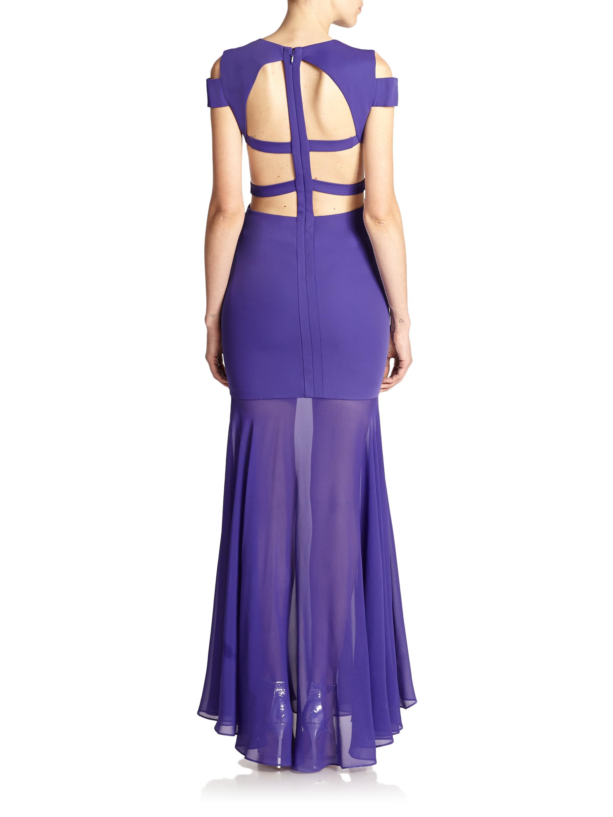 Lyst - Bcbgmaxazria Ava Cutout Gown in Blue