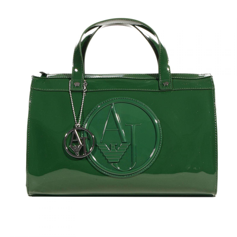 Lyst - Giorgio Armani Handbag Trunk Bag Patent Leather 31X25X16 Cm ... c74a7294bf34d