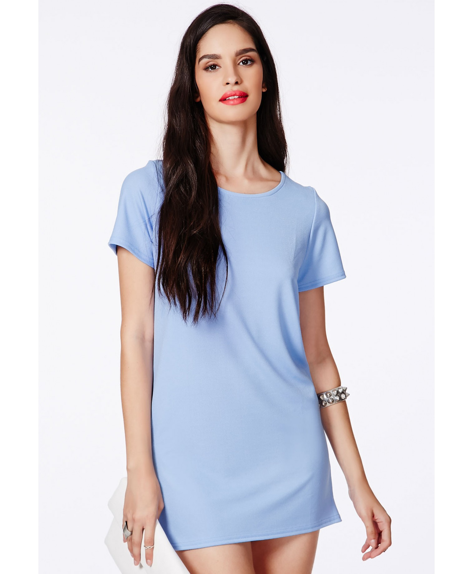 Lyst - Missguided Pansitta Baby Blue Shift Dress in Blue a0ff764abc70