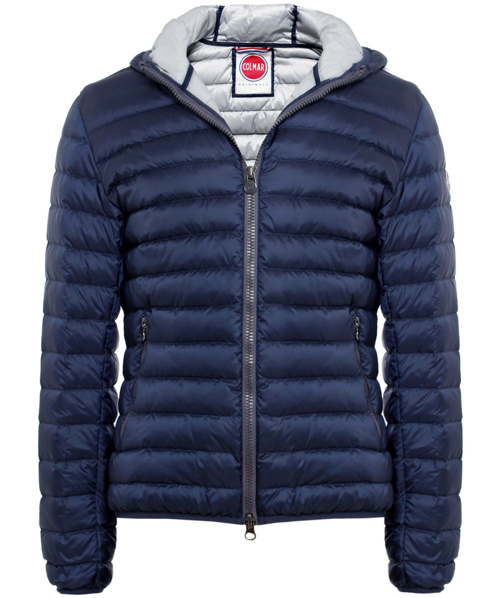 Colmar Hooded Light Down Jacket in Blue for Men | Lyst