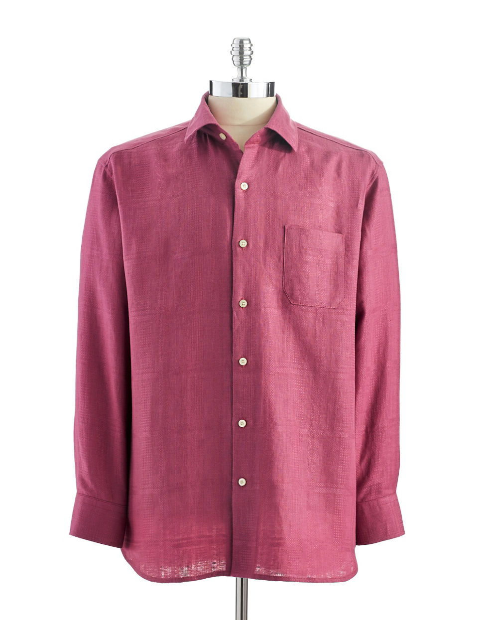 Tommy bahama monte carlo linen button down shirt in purple for Tommy bahama christmas shirt 2014