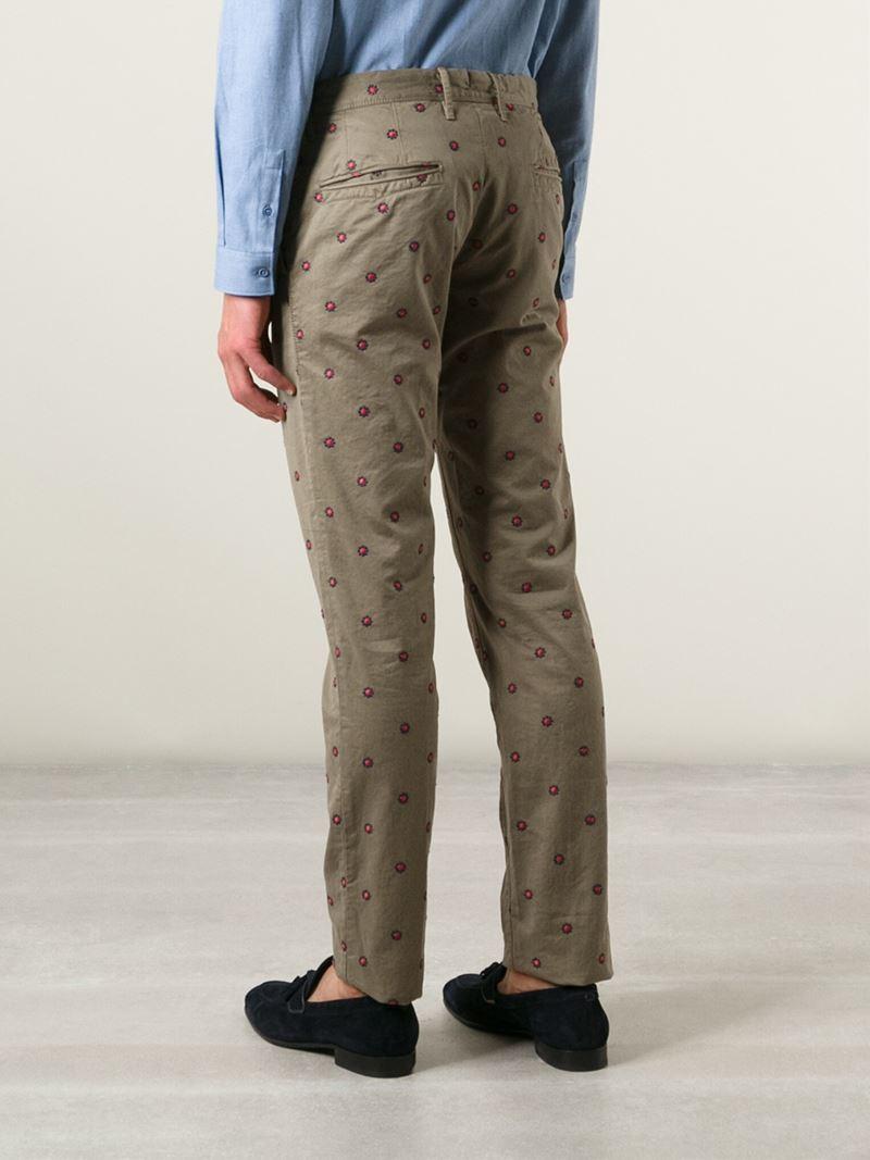 chino trousers - Green Incotex qMLnQscTK