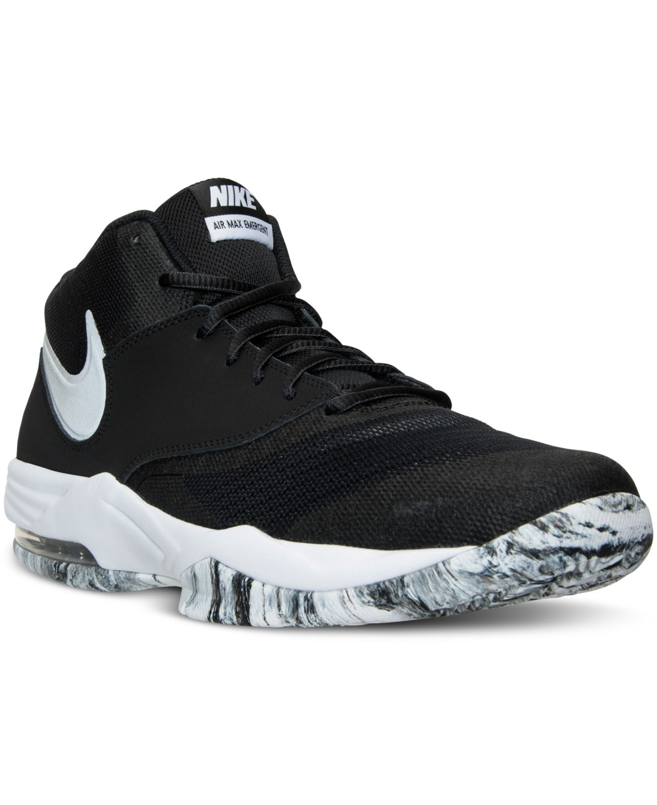 online store 32236 4a35c nike-blackmtllc-slvr-white-an-mens-air-max -emergent-basketball-sneakers-from-finish-line-black -product-4-984326169-normal.jpeg