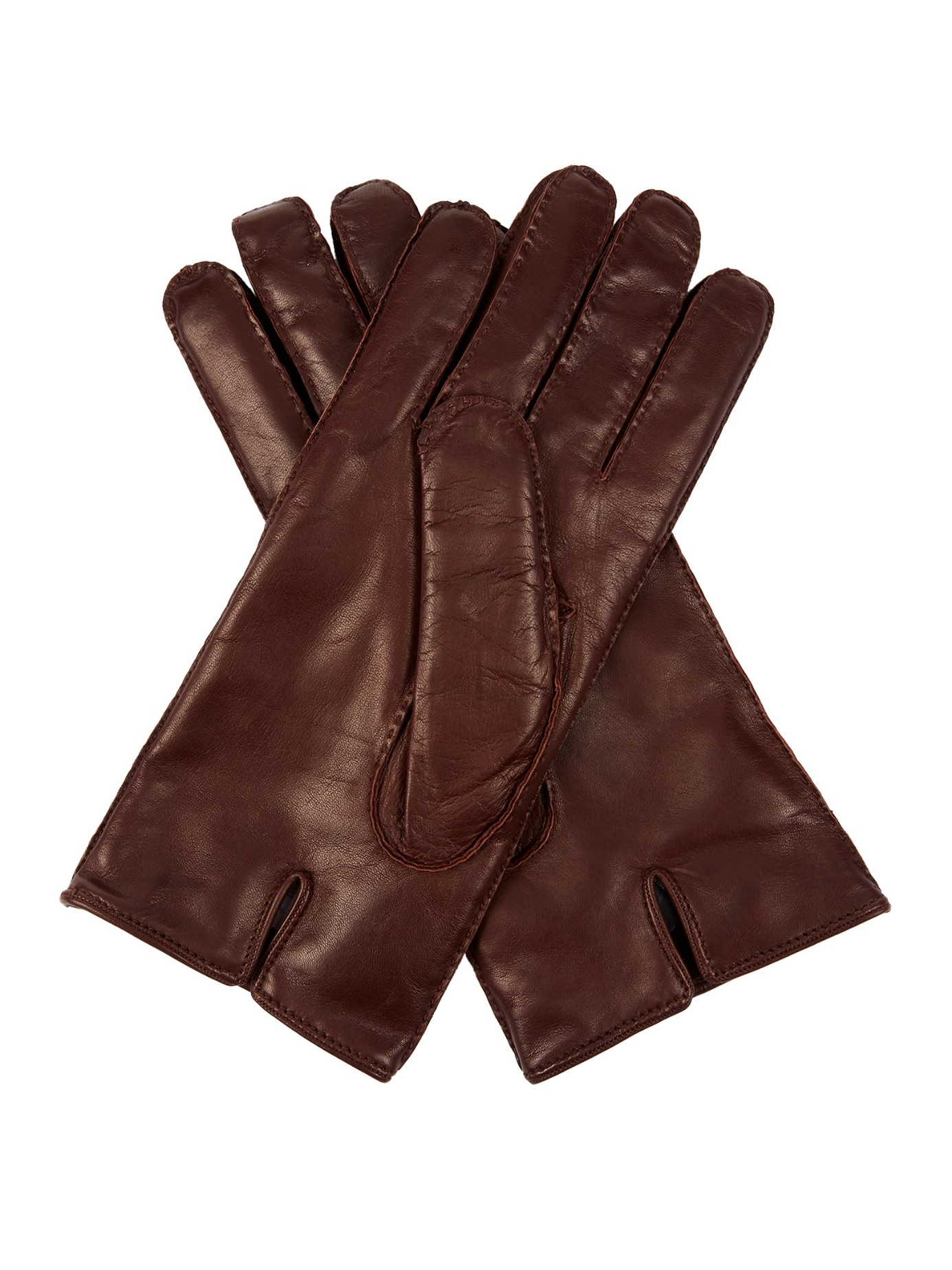 mulberry leather gloves in brown for men lyst