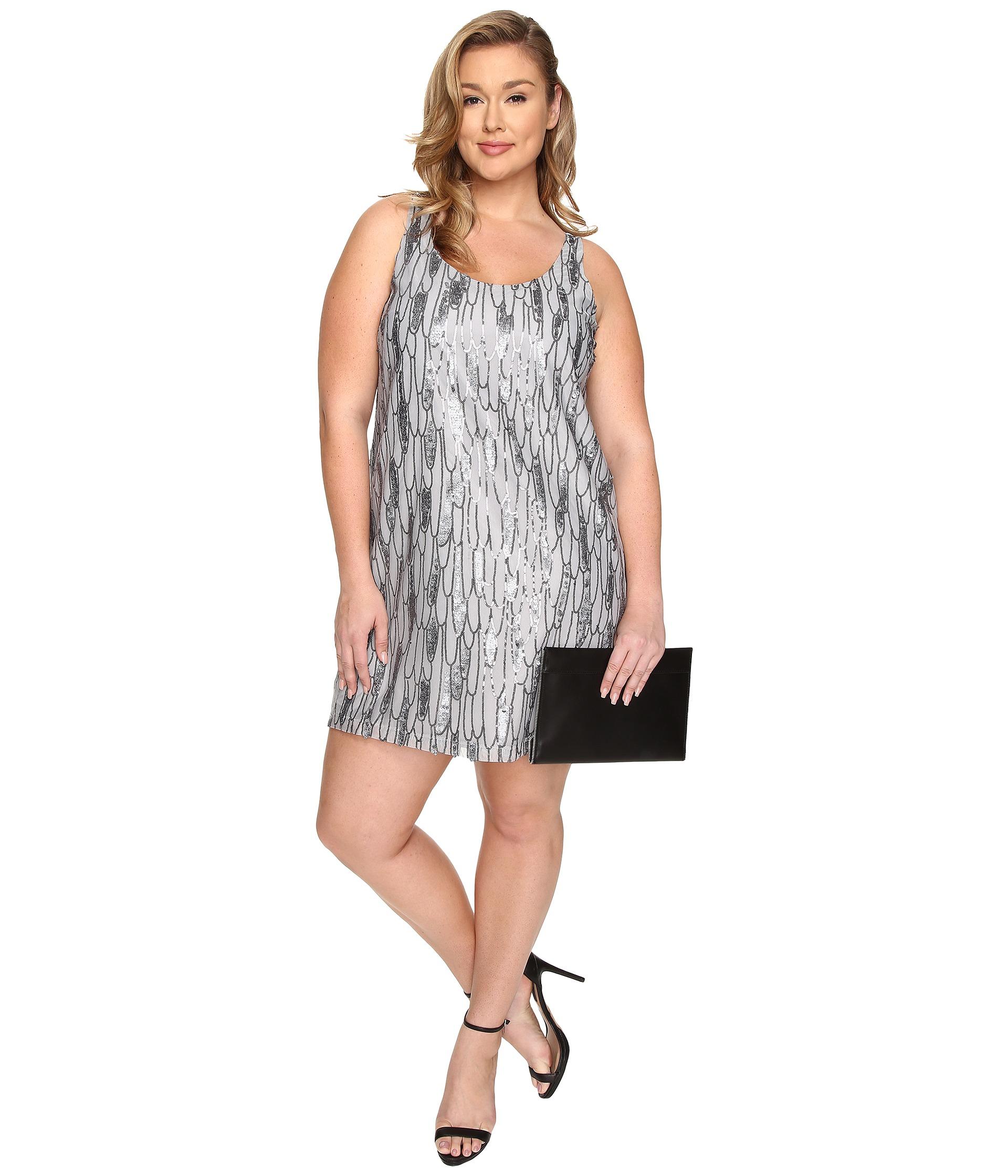 Black And Silver Sequin Dress Plus Size – Little Black Dress | Black ...