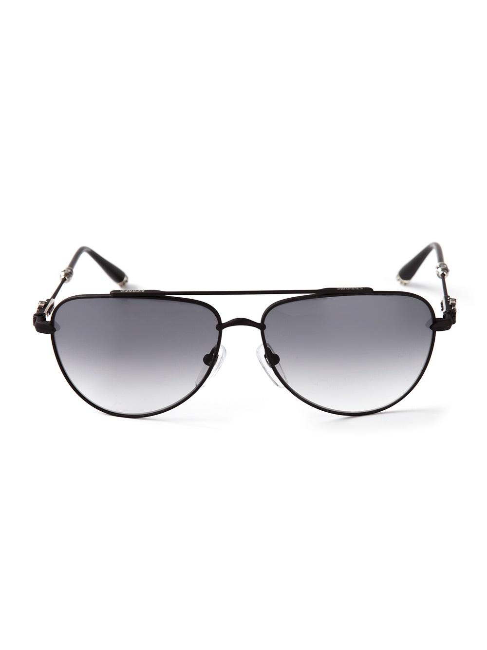 Chrome Hearts Slam Sunglasses In Black For Men Lyst