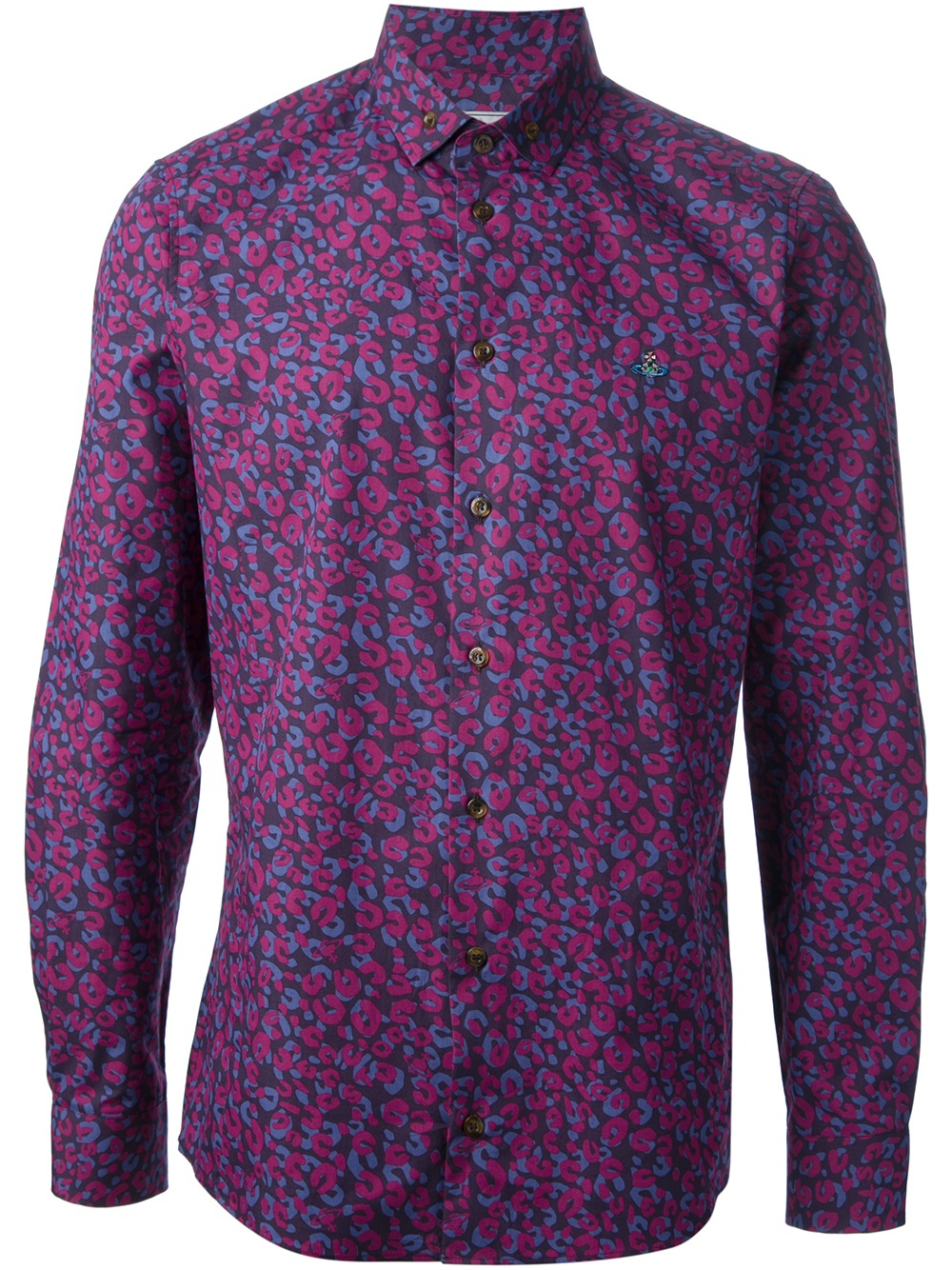Lyst Vivienne Westwood Animal Print Shirt In Purple For Men