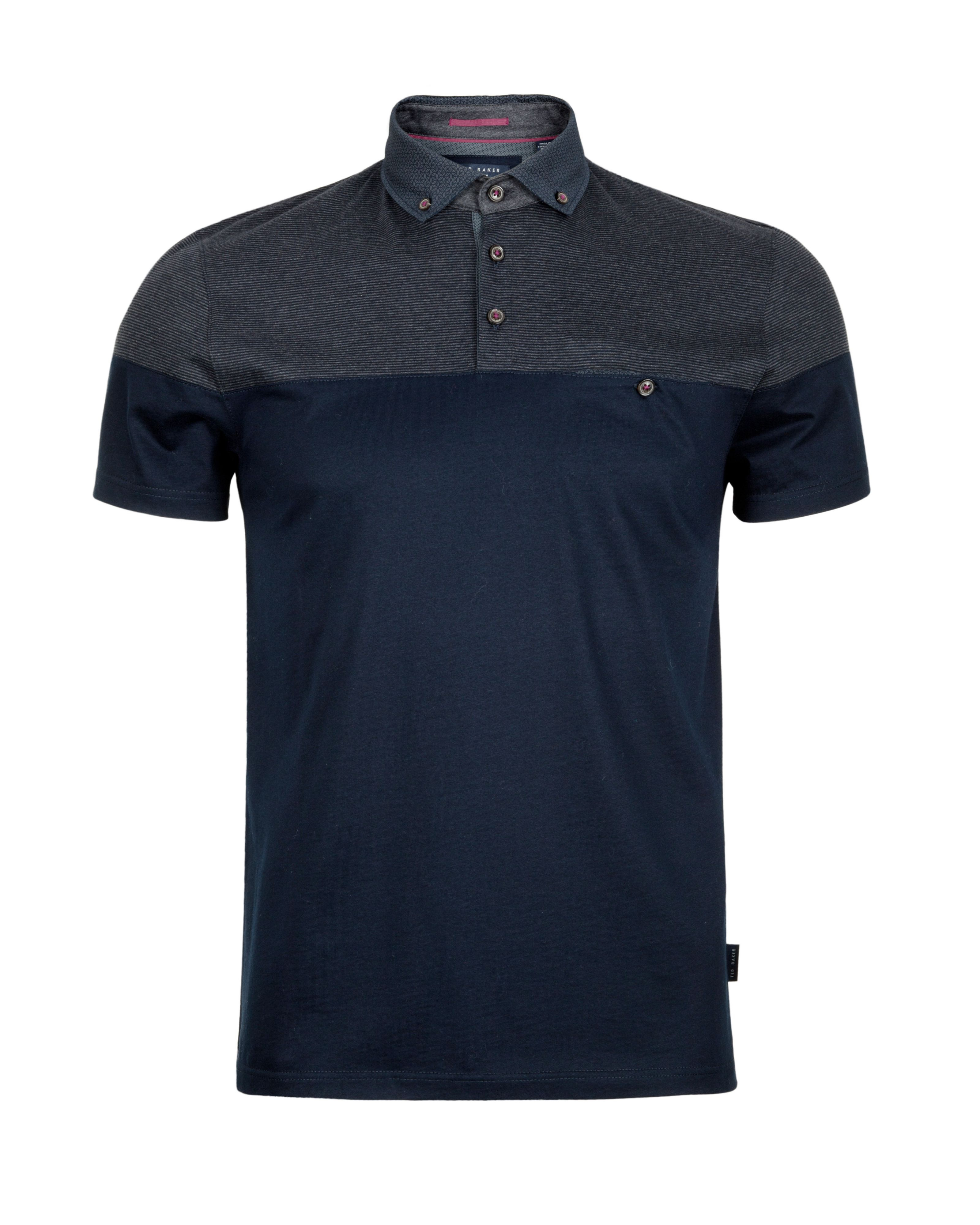 Ted baker blue wookpol panel printed polo shirt for men for Ted baker blue shirt